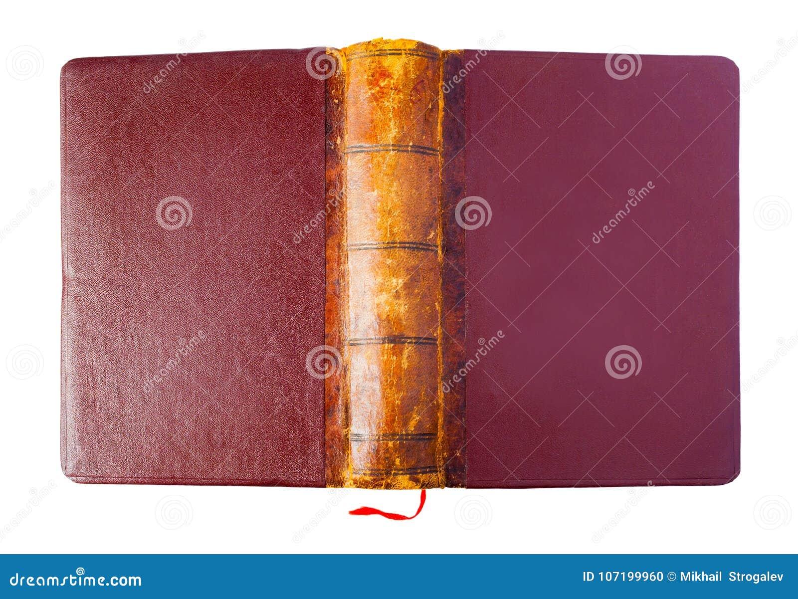 Hardcover rocznika brązu rozpieczętowana książka