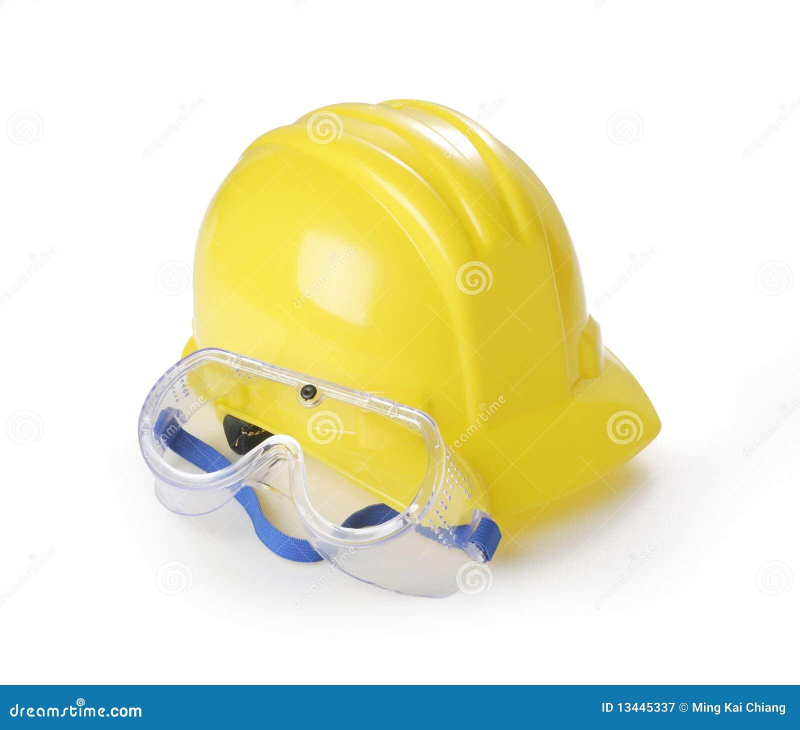 Hardhat γυαλιών ασφάλεια κίτριν