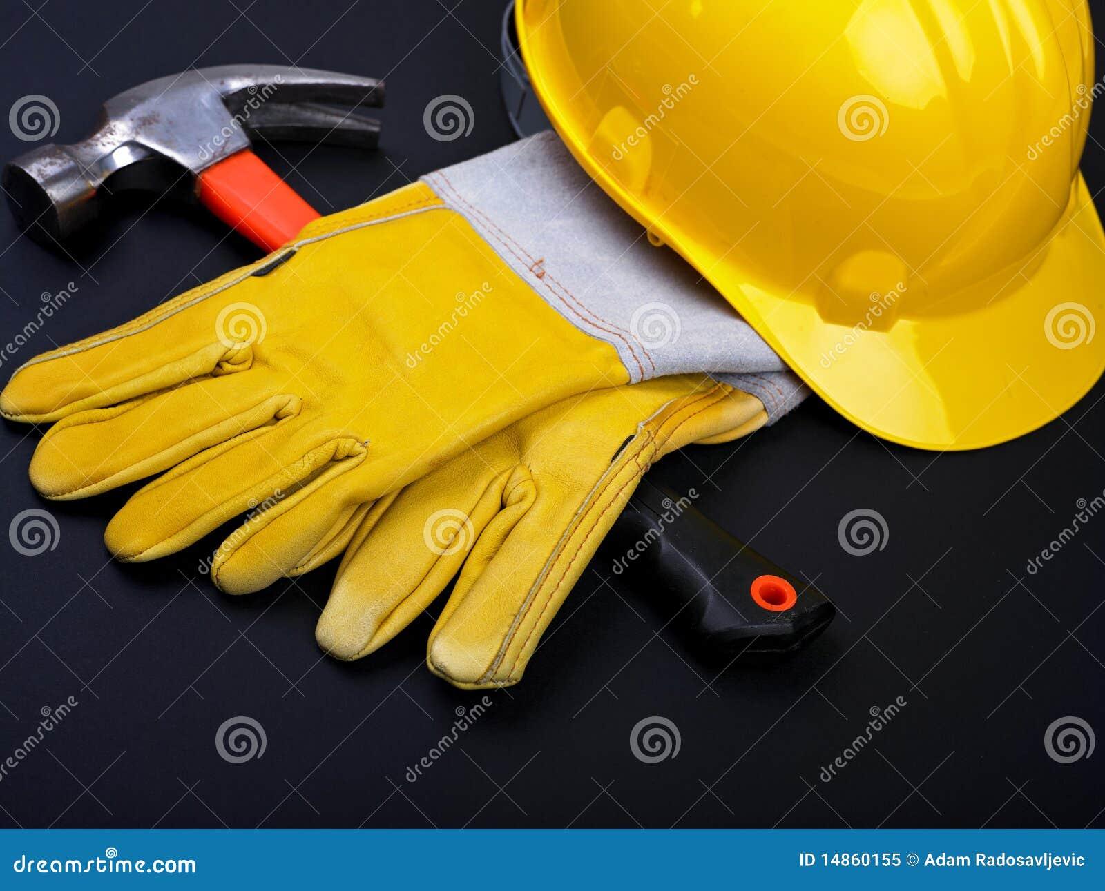 HardHat Hammer And Gloves