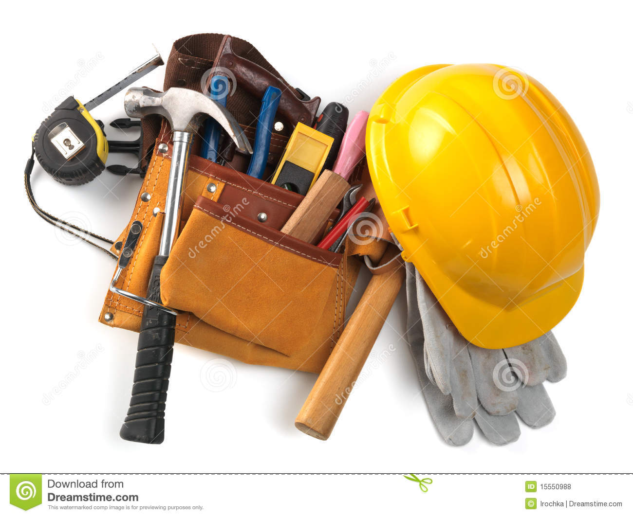 Hardhat And Tool Belt Royalty Free Stock Photos - Image: 15550988