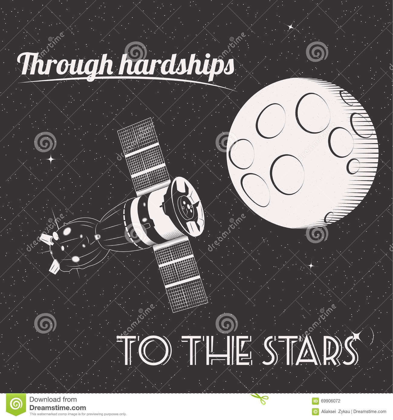 Through hardships to the stars print i