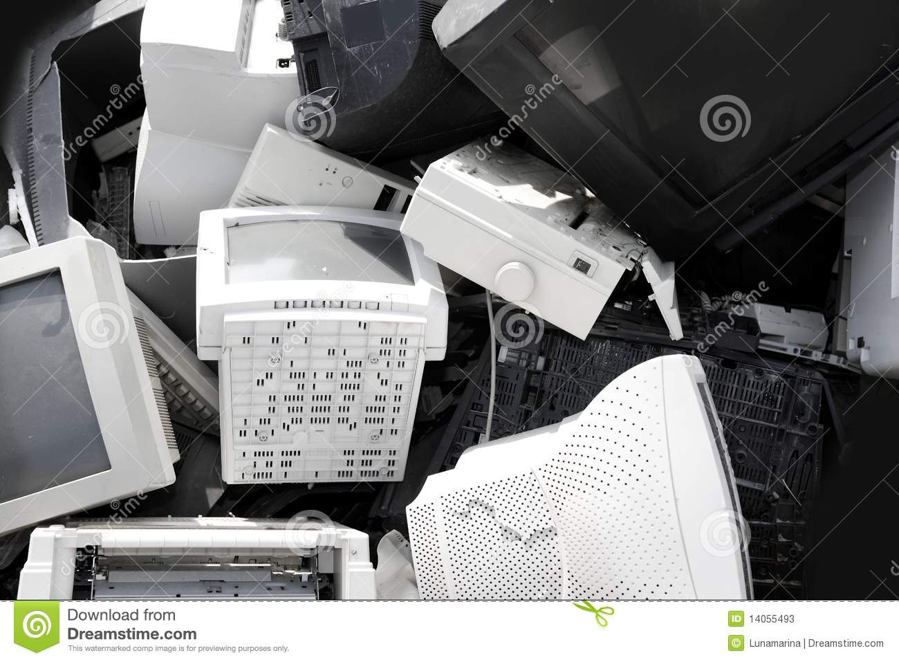 Download Hardware Computer Crt Monitor Recycle Industry Stock Image - Image of industry, mound: 14055493