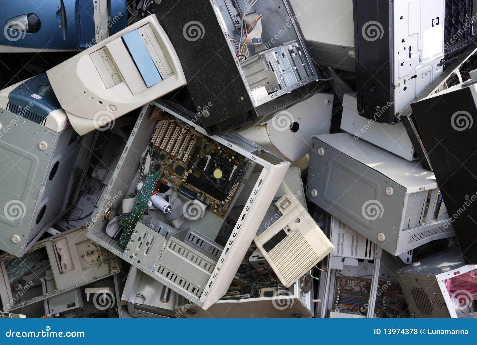 Download Hardware Computer Desktop Recycle Industry Stock Photo - Image of heap, antique: 13974378
