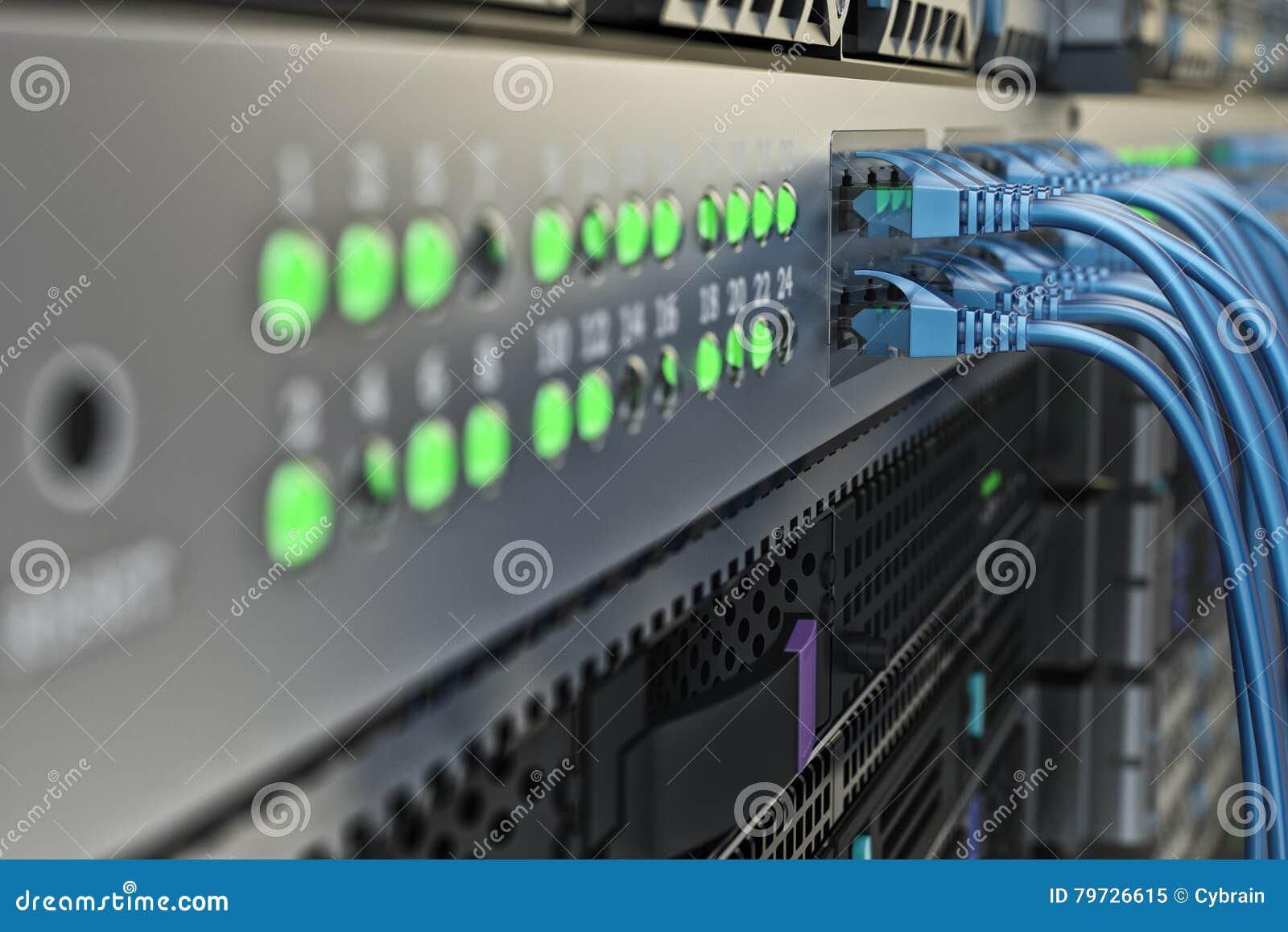 Hardware de la comunicación de la conexión y de Internet de red, equipo de telecomunicación del centro de datos