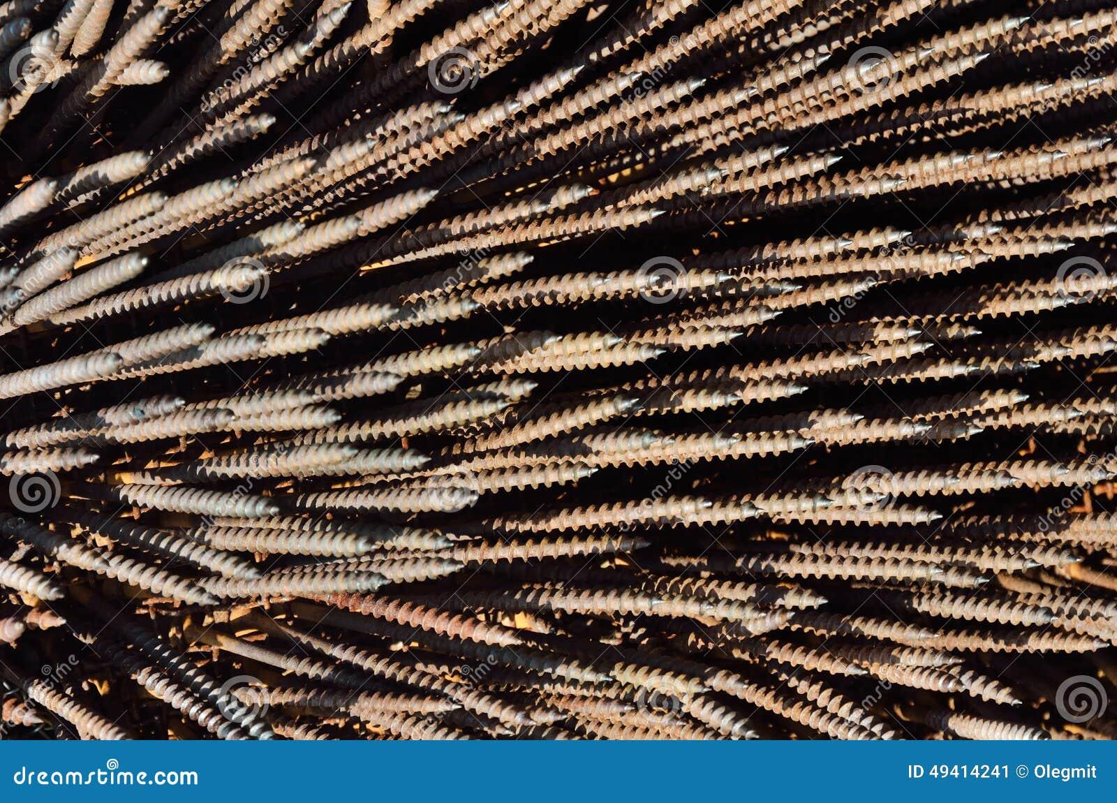 Download Hardware-Hintergrund Von Metallbefestigern Stockbild - Bild von hintergründe, scharf: 49414241