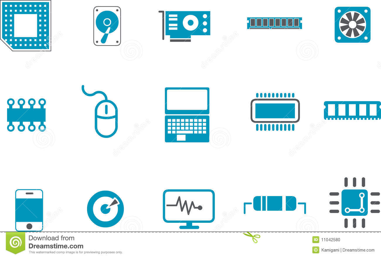 Vector icons pa... Computer Hardware Clipart