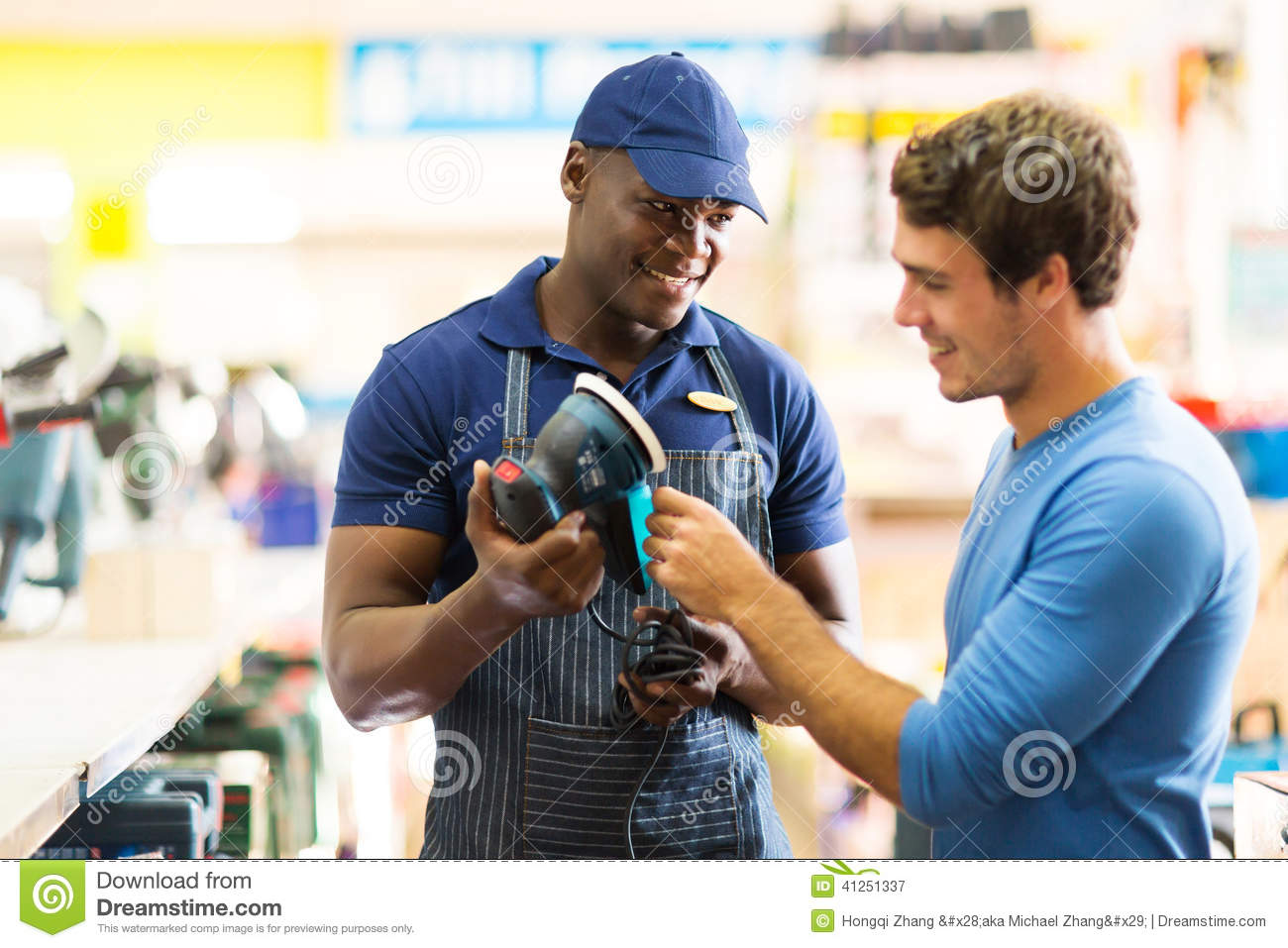 hardware store worker customer stock photo image  hardware store worker customer