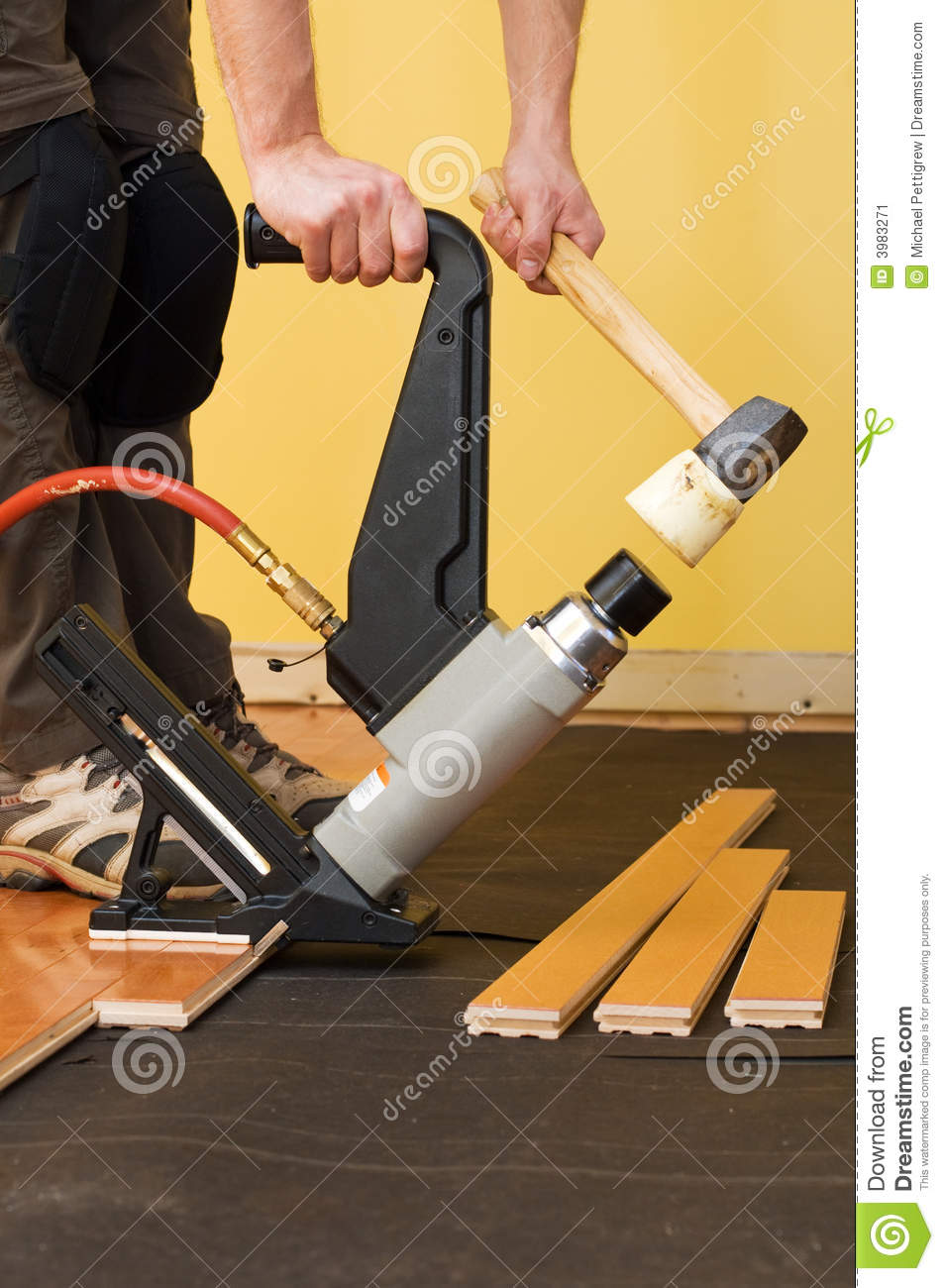 Hardwood Floor Installation Stock Image Image Of Home Prefinished