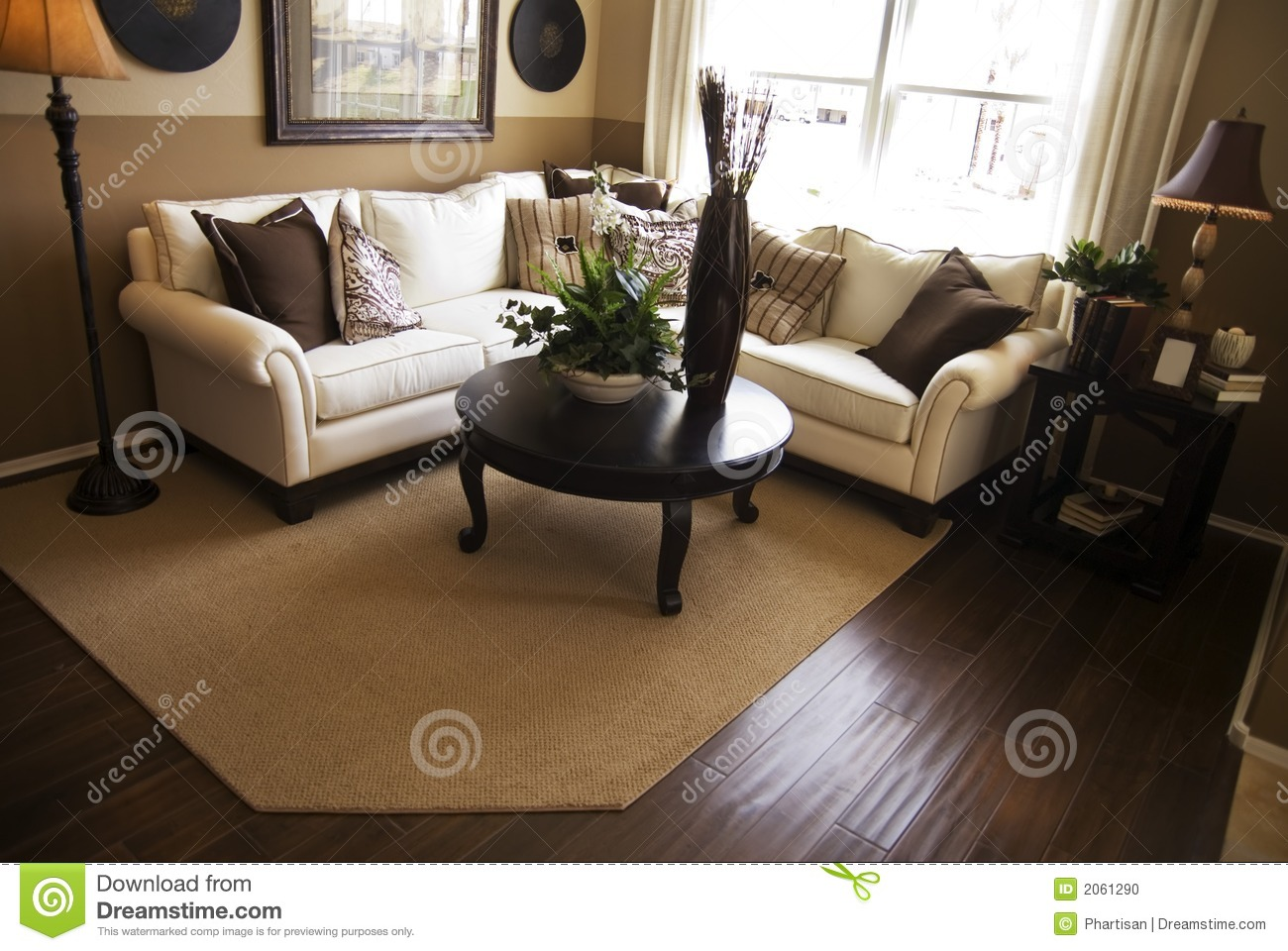 Hardwood flooring in living room stock photo image 2061290 for Living room with wood floors