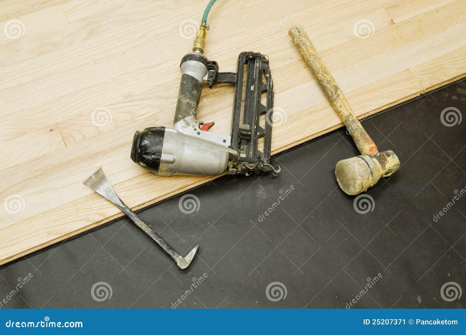 floor flooring hardwood installation tools ... - Hardwood Flooring Tools Stock Image - Image: 25207371