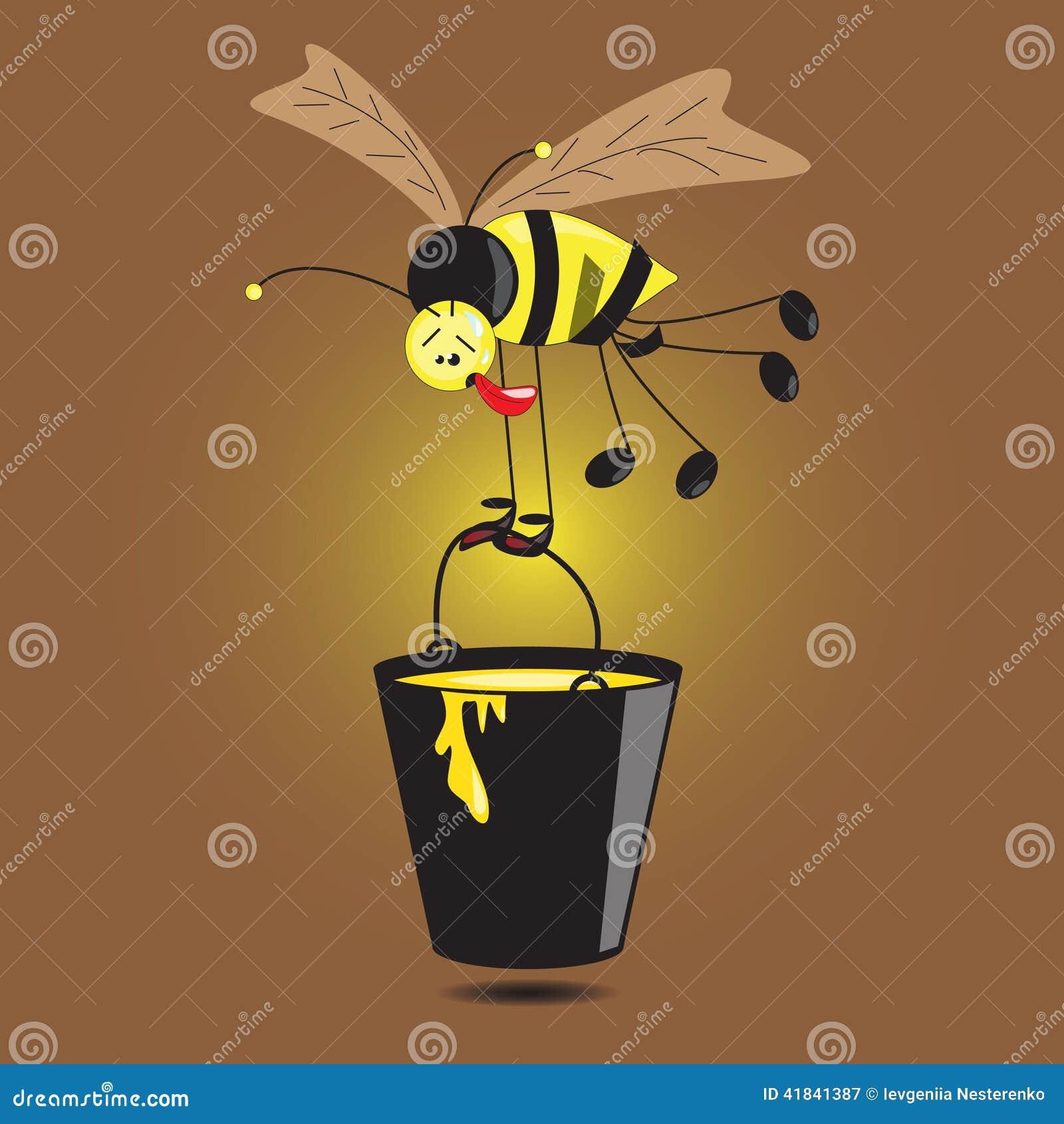 Hardworking Bee Stock Vector - Image: 41841387