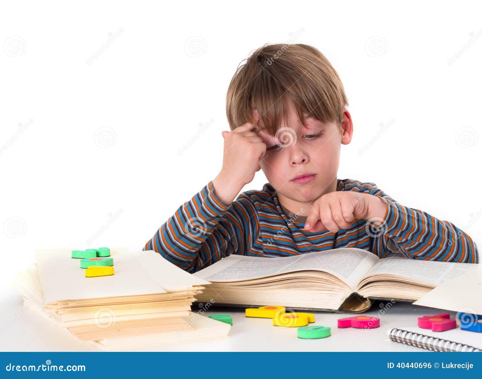 hardworking boy stock photo image 40440696