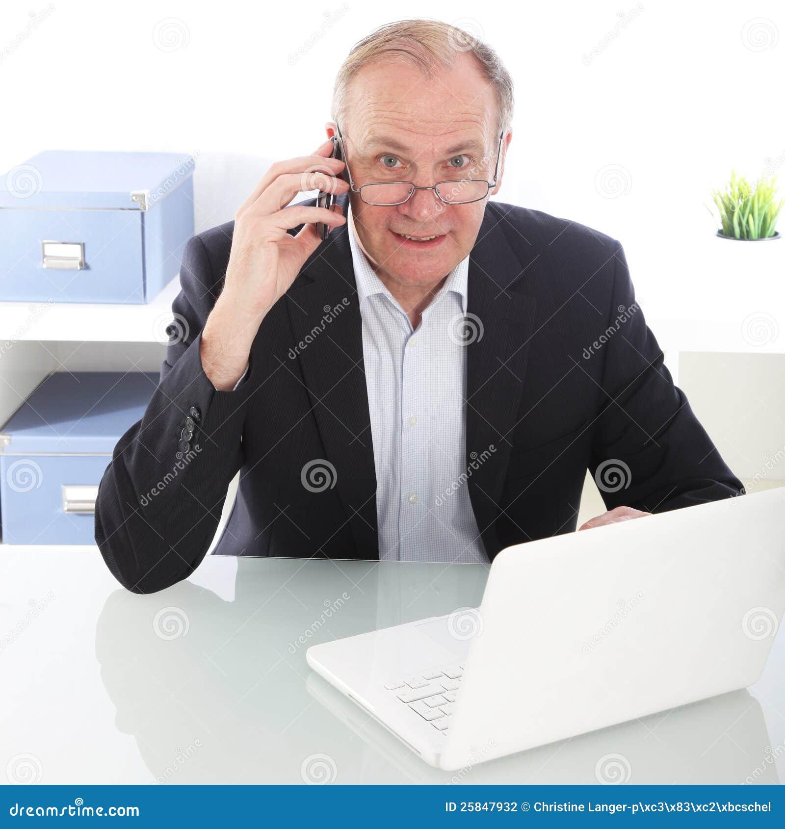 Hardworking Businessman On Mobile Stock Photography ...