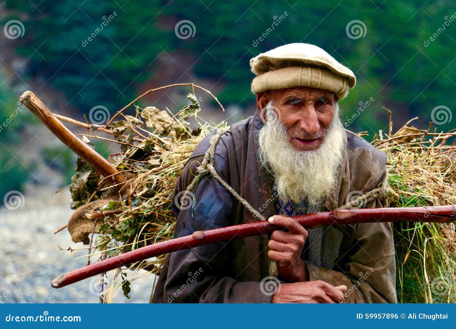 Hardworking old man