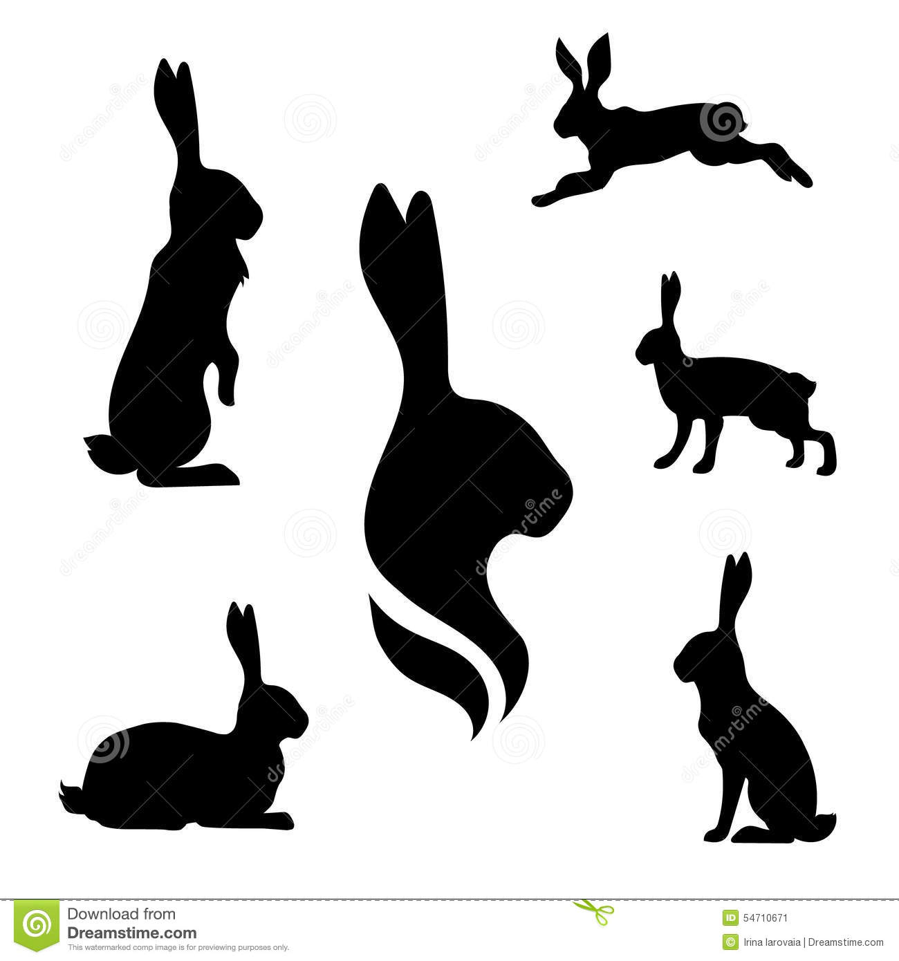 Hare set vector stock ...