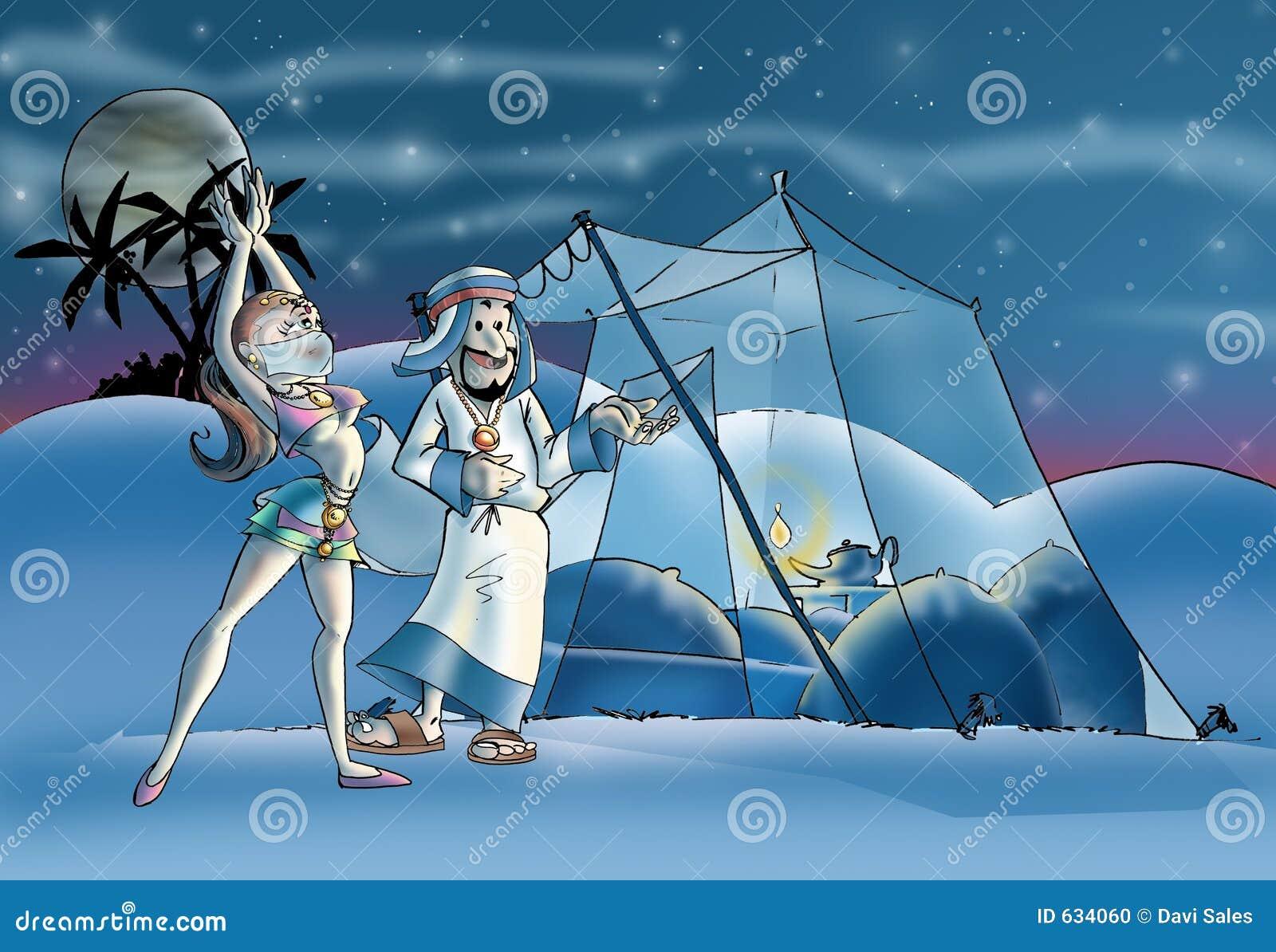 Download Harem иллюстрация штока. иллюстрации насчитывающей шейх - 634060
