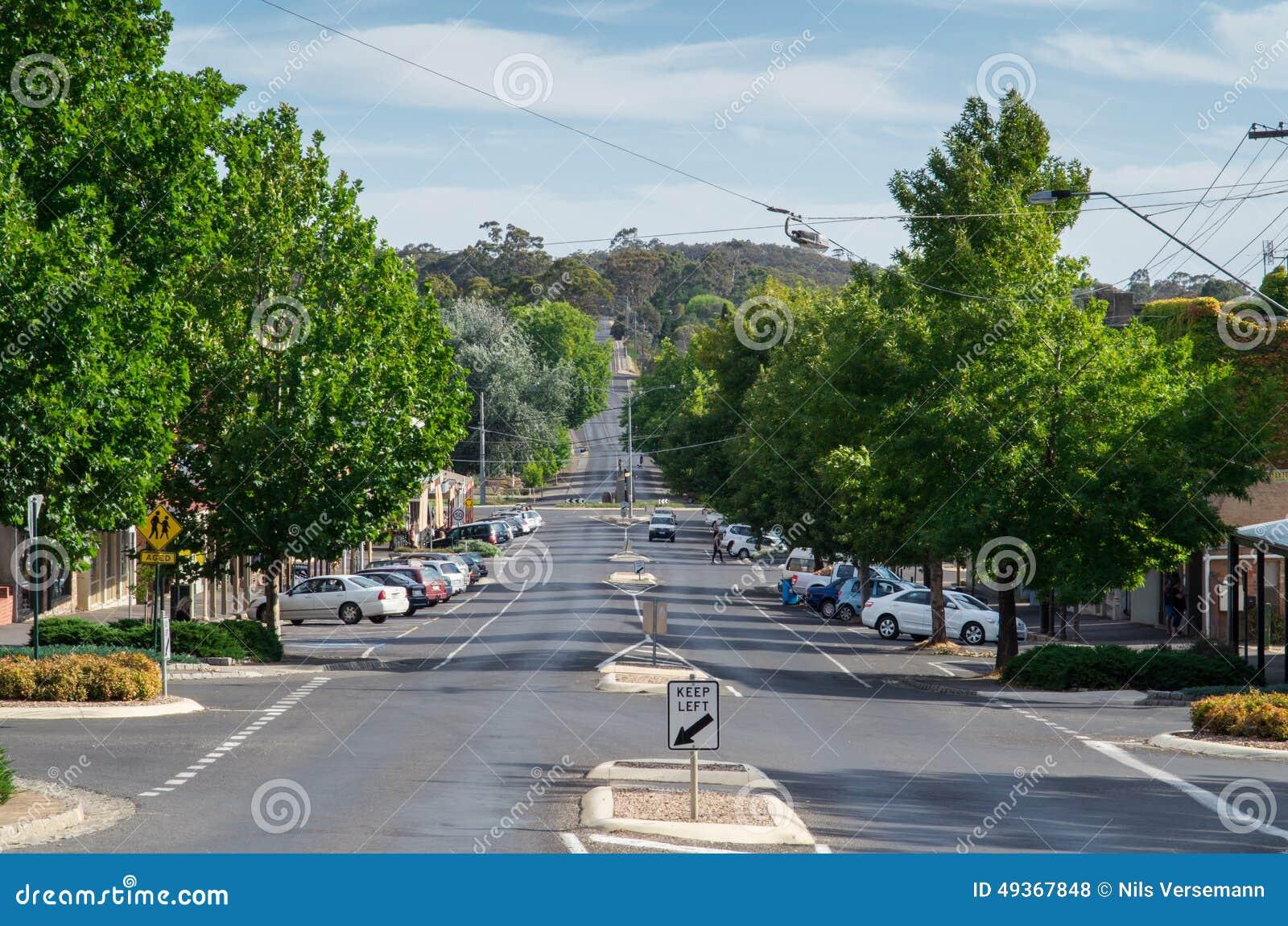 Hargraves街在Castlemaine