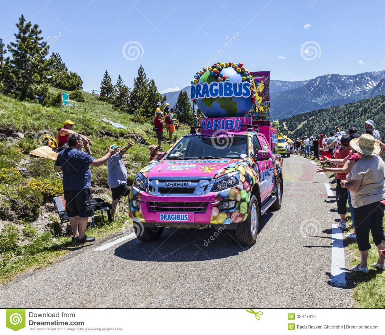 haribo car in pyrenees mountains editorial photo image 32977616. Black Bedroom Furniture Sets. Home Design Ideas