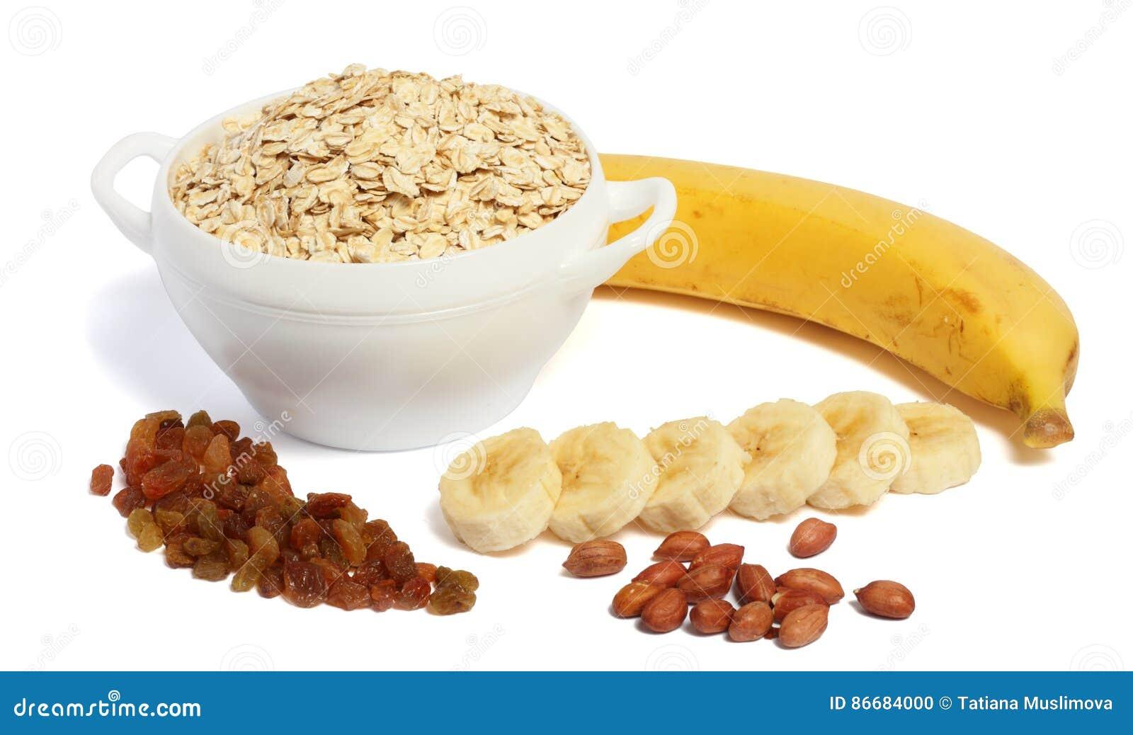 Harina de avena con el plátano