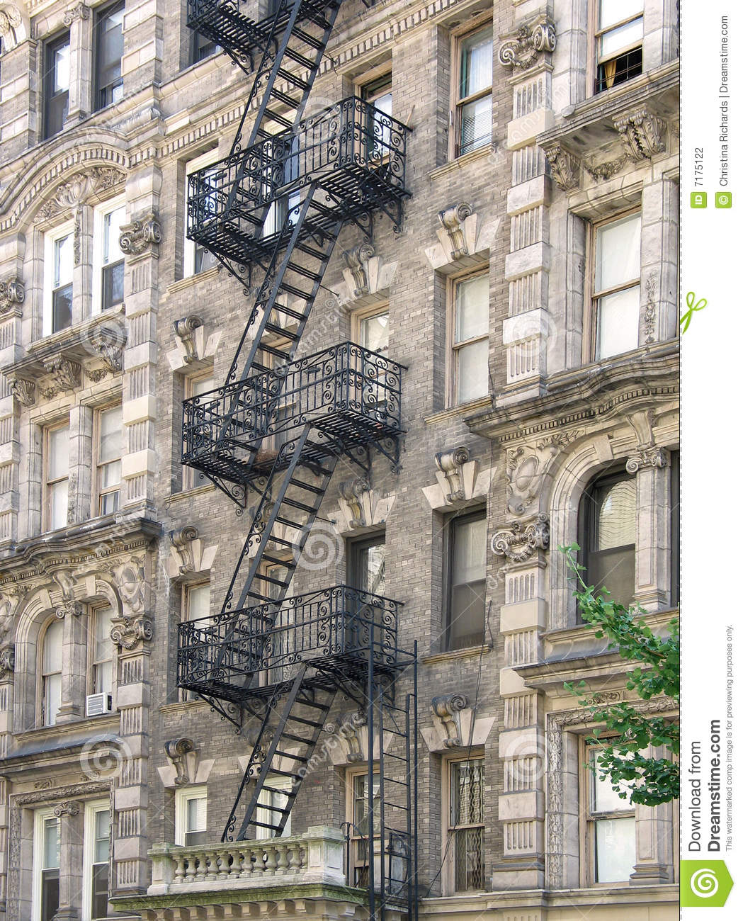 Nyc Apartment Building: Harlem Apartment Building Stock Photo. Image Of City