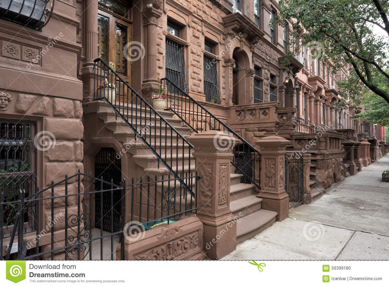 Harlem houses in new york city stock photo image 56399180 for Modern houses in new york