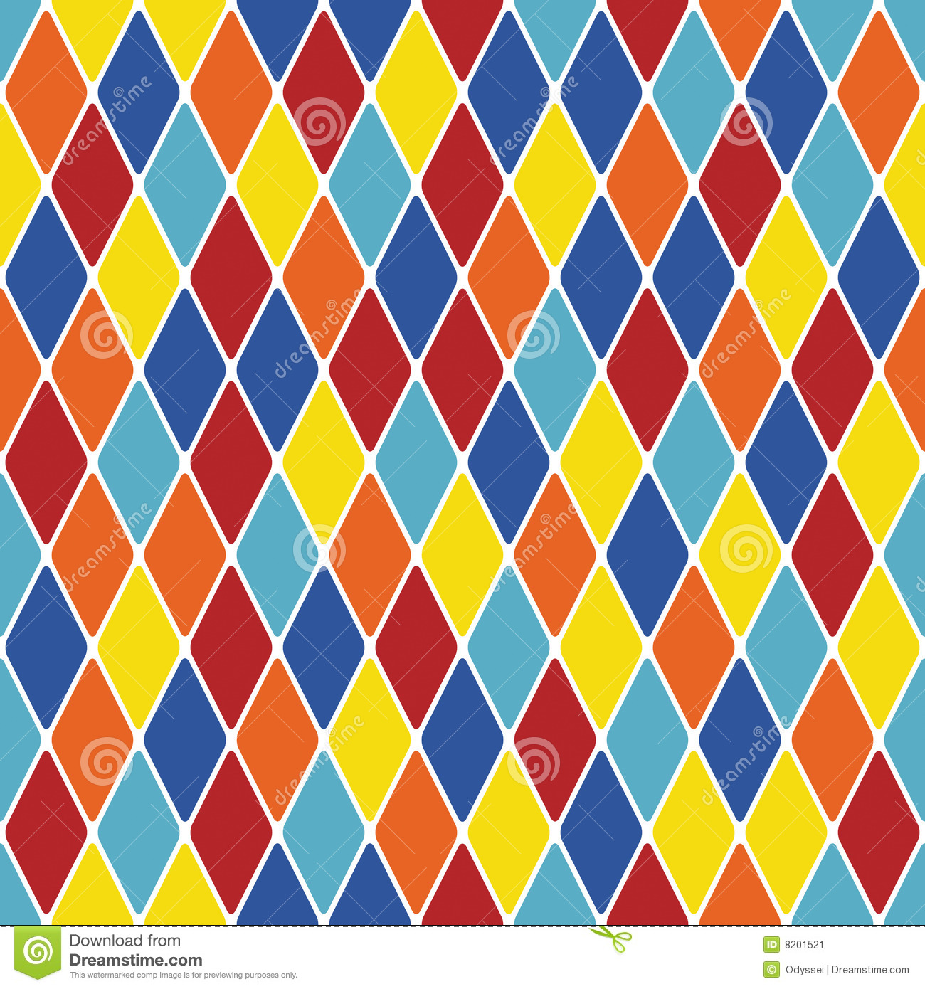 Harlequin Particoloured Seamless Pattern X Stock Image - Image ...