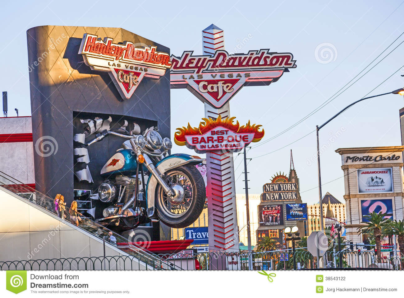 Harley Davidson Cafe In The Strip Editorial Photography