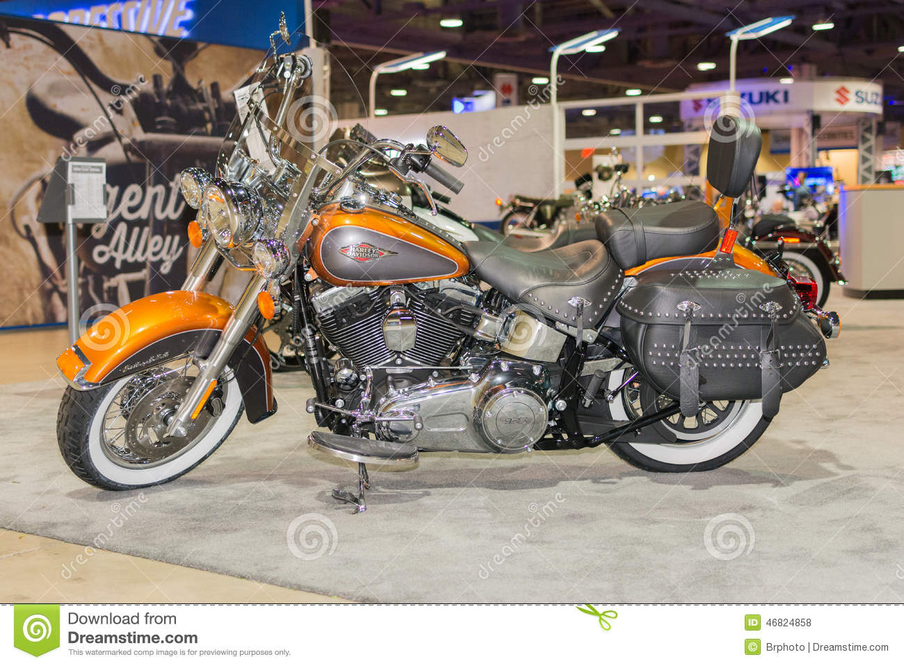 Harley-Davidson Heritage Softail Classic Motorcycle 2015 Editorial