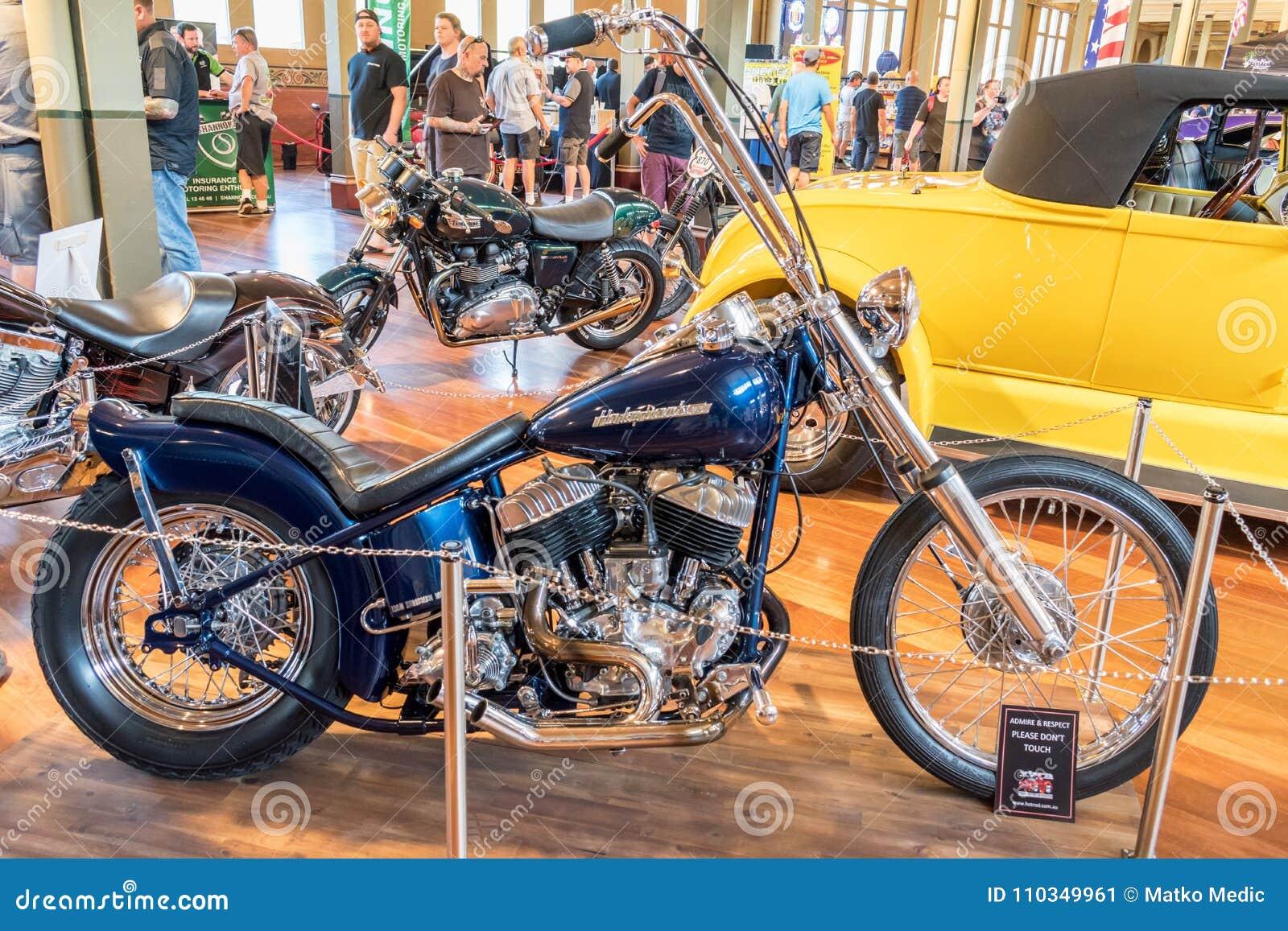 Harley Davidson Hot Rod Motorcycle Editorial Photo Image