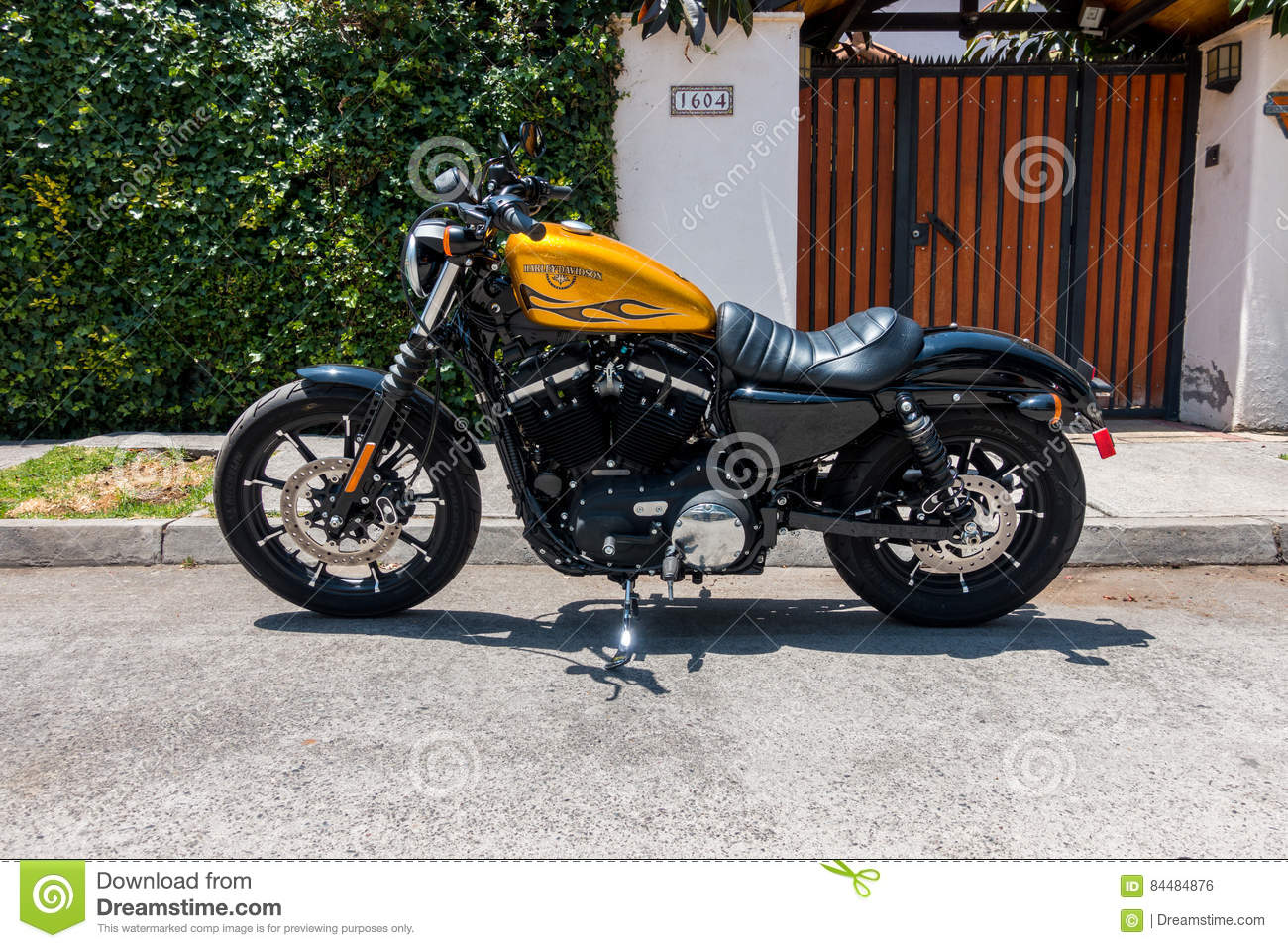 Harley Davidson Iron 883 Editorial Stock Photo