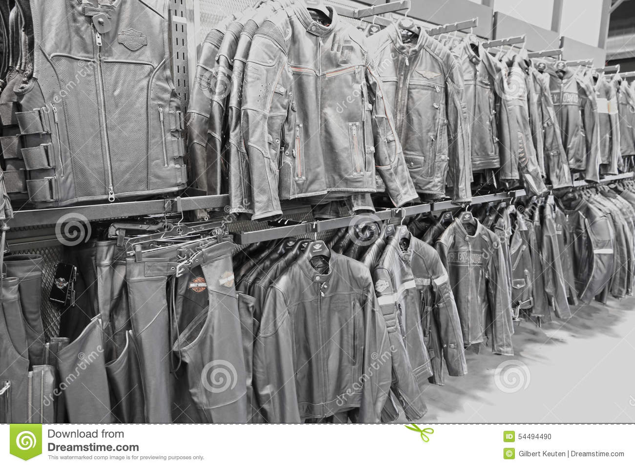 Harley Davidson Leather Jackets Editorial Image Image Of Brand