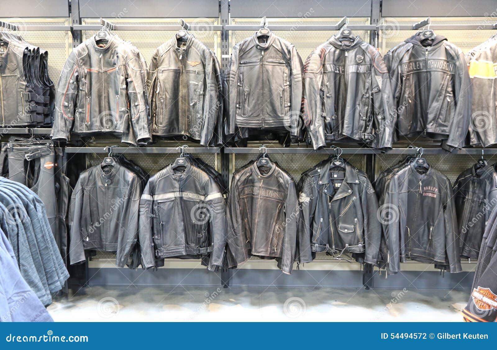 Harley Davidson Leather Jackets Editorial Photography - Image