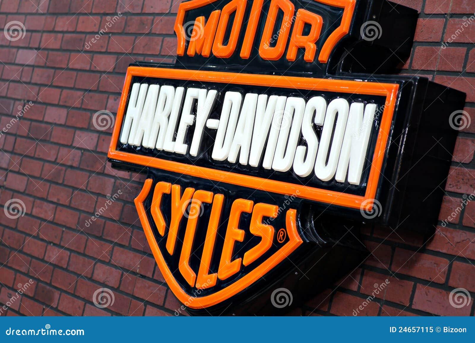 Harley Davidson Logo Editorial Image - Image: 24657115
