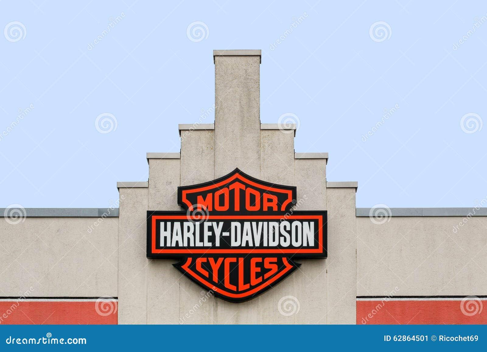 harley davidson logo on a store editorial photo image of. Black Bedroom Furniture Sets. Home Design Ideas