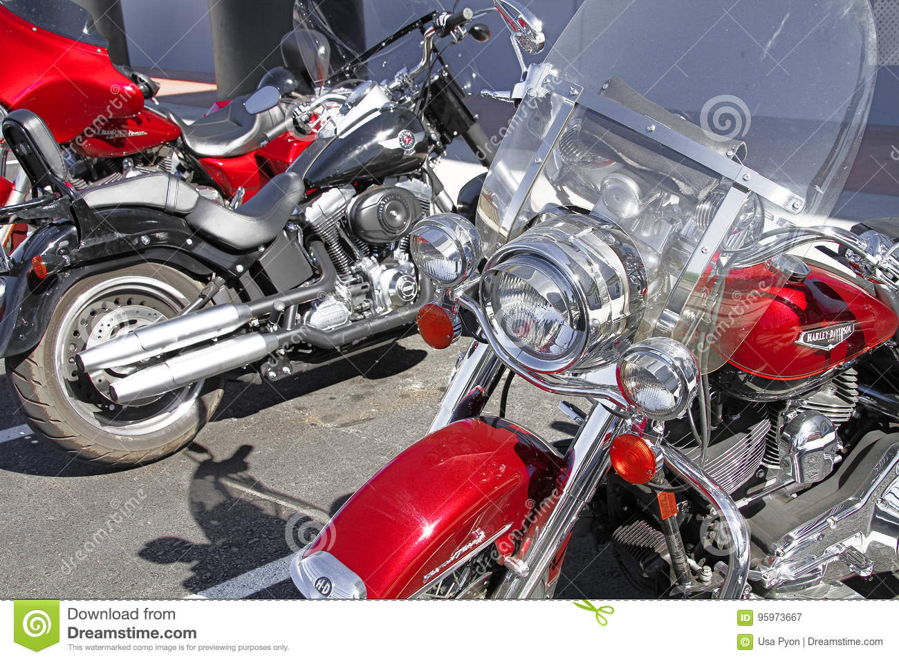 Harley Davidson Motorcycle Editorial Photography Image Of Town
