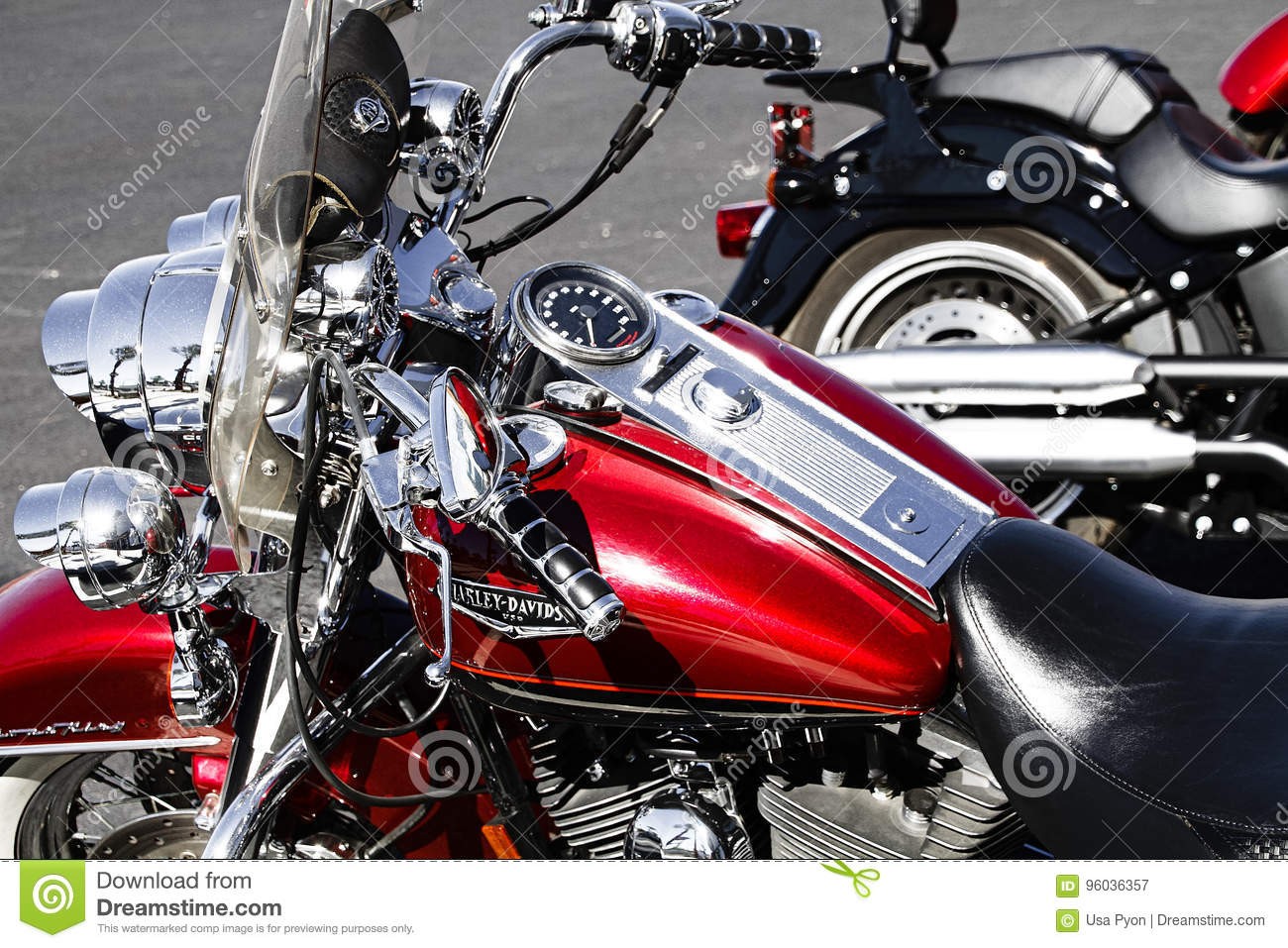 Harley Davidson Motorcycle Editorial Photography Image Of United