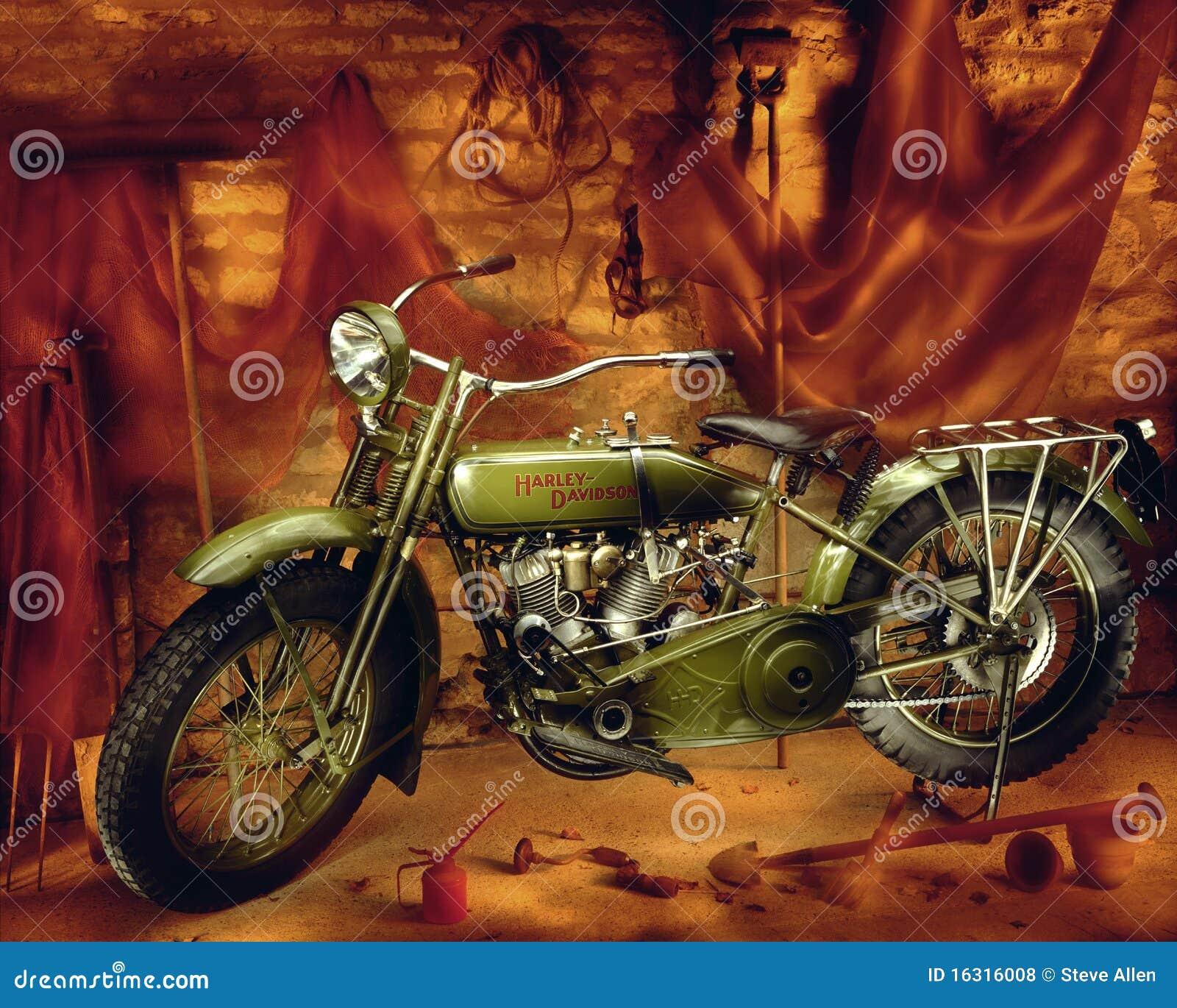 Harley Davidson Motorcycle Vintage 1910 Editorial Stock