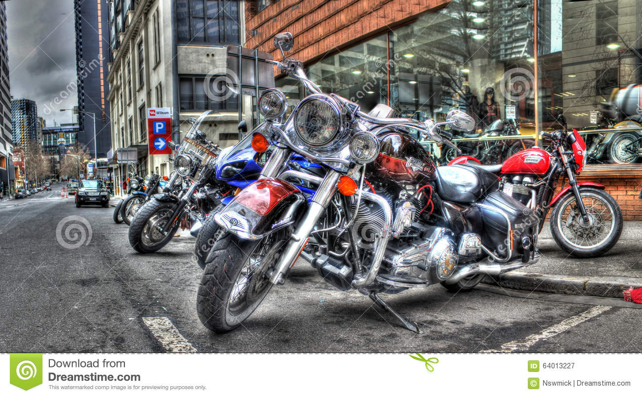 harley davidson motorcycles editorial photography image