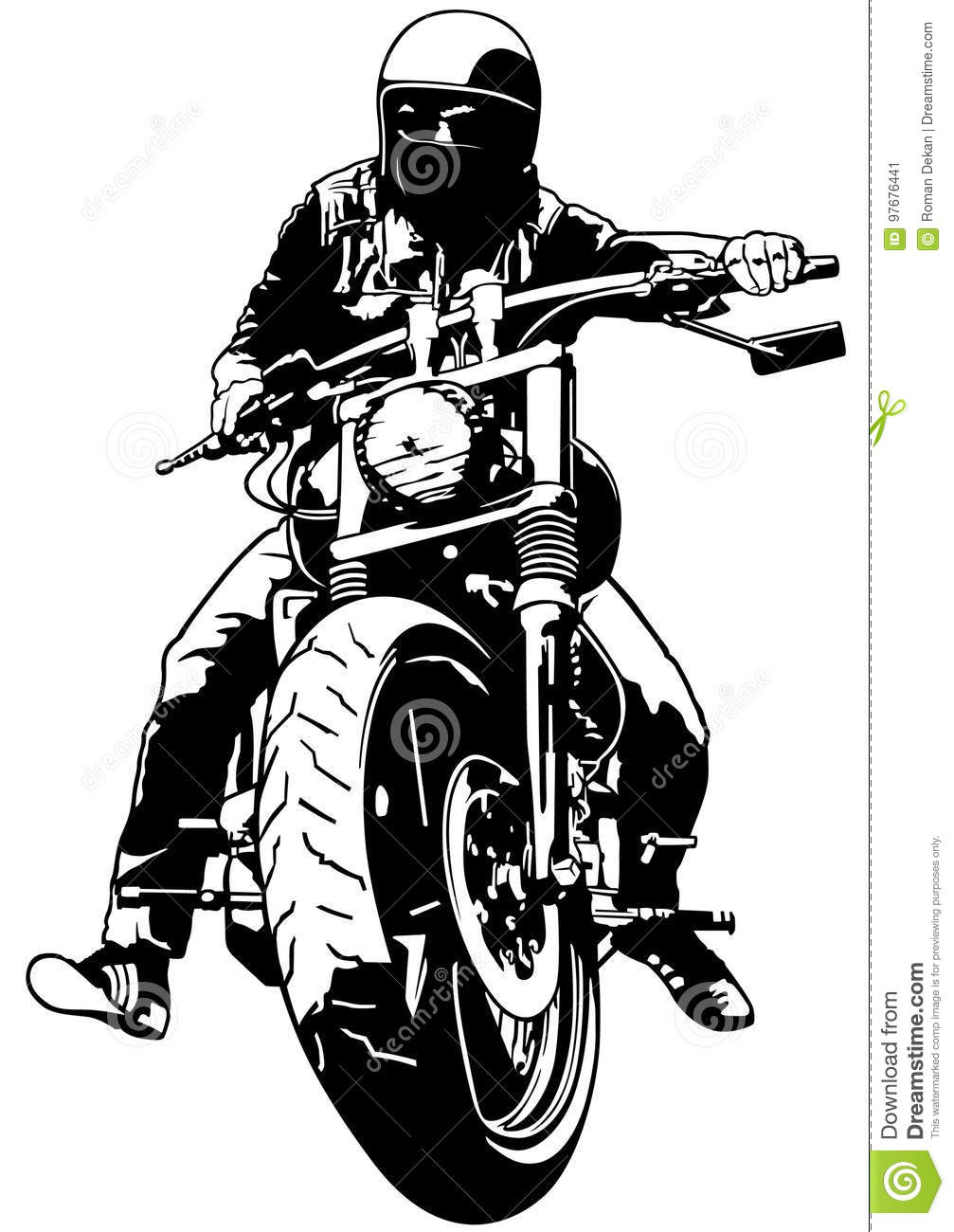 Harley davidson clipart motorcycle - Clipartix