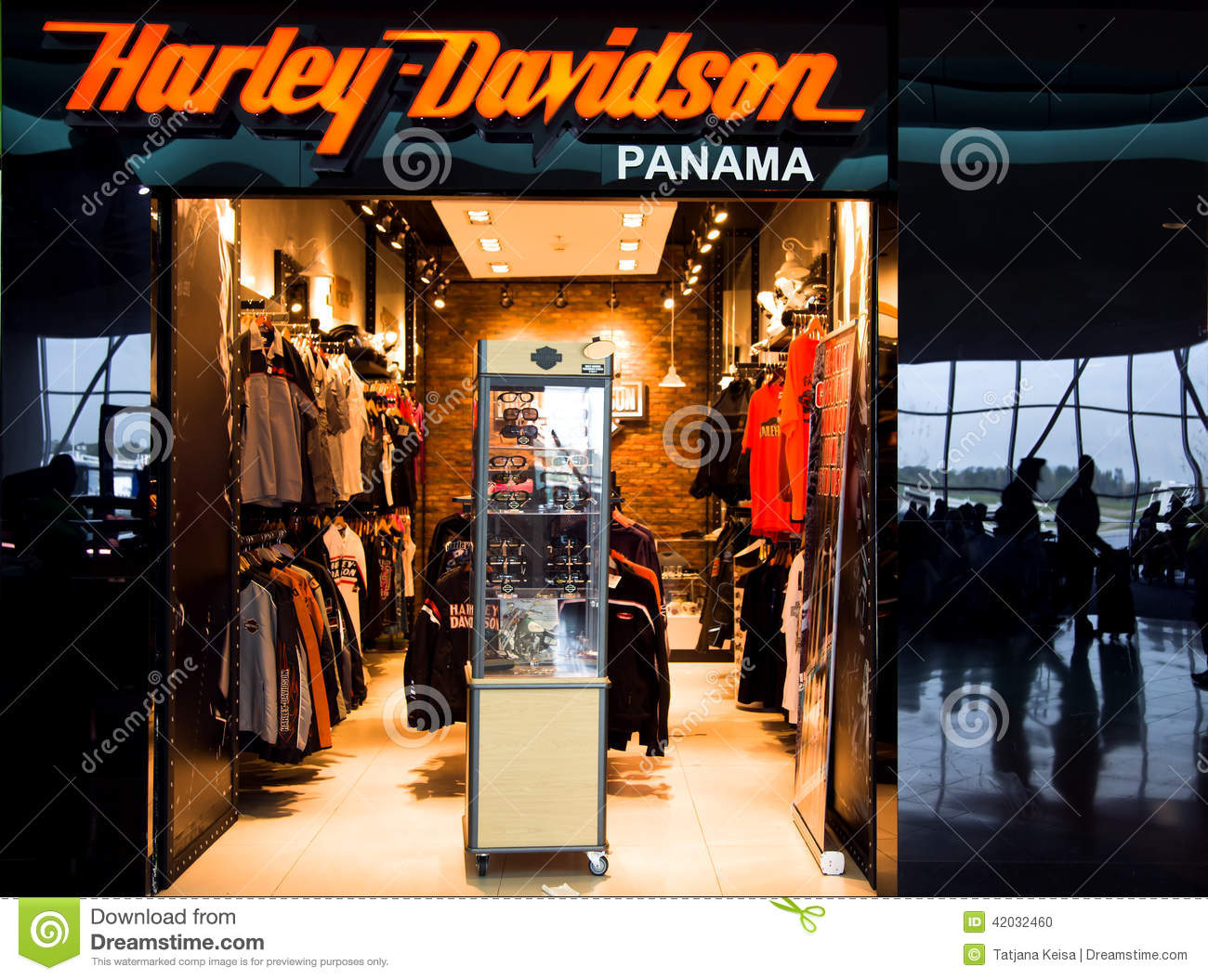 Harley Davidson Shop In Airport Of Panama City Editorial