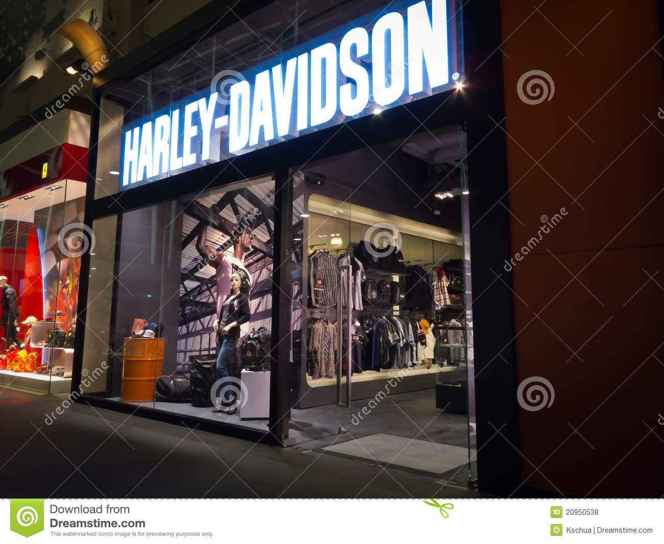 harley davidson store editorial stock photo image of. Black Bedroom Furniture Sets. Home Design Ideas