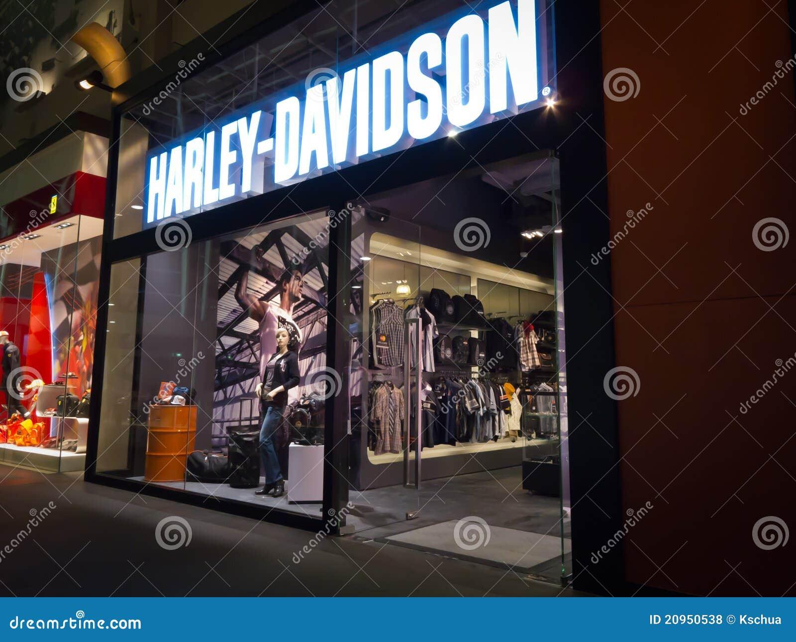 harley davidson store editorial stock photo - image: 20950538
