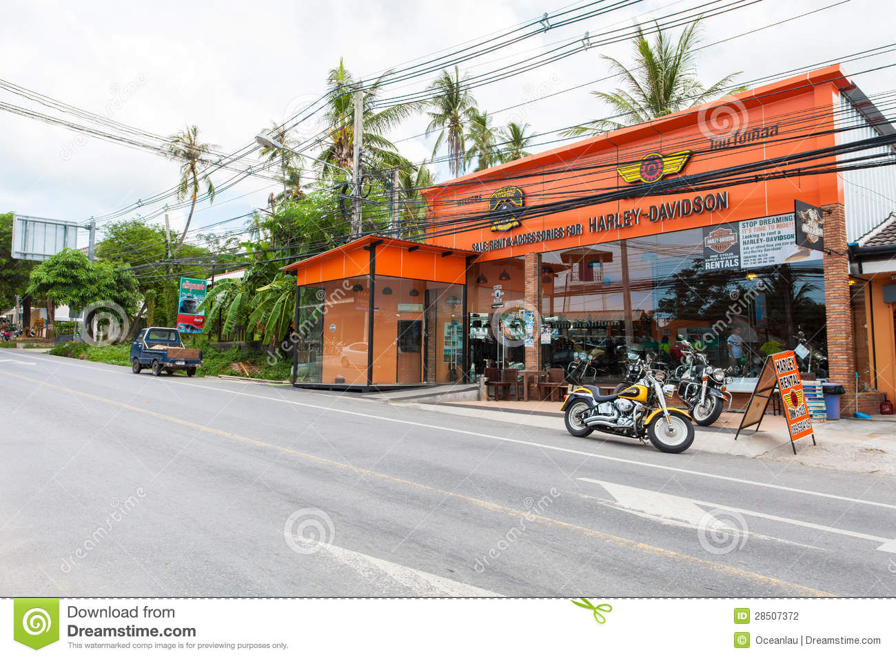 Harley Davidson Store Samui Editorial Photography Image