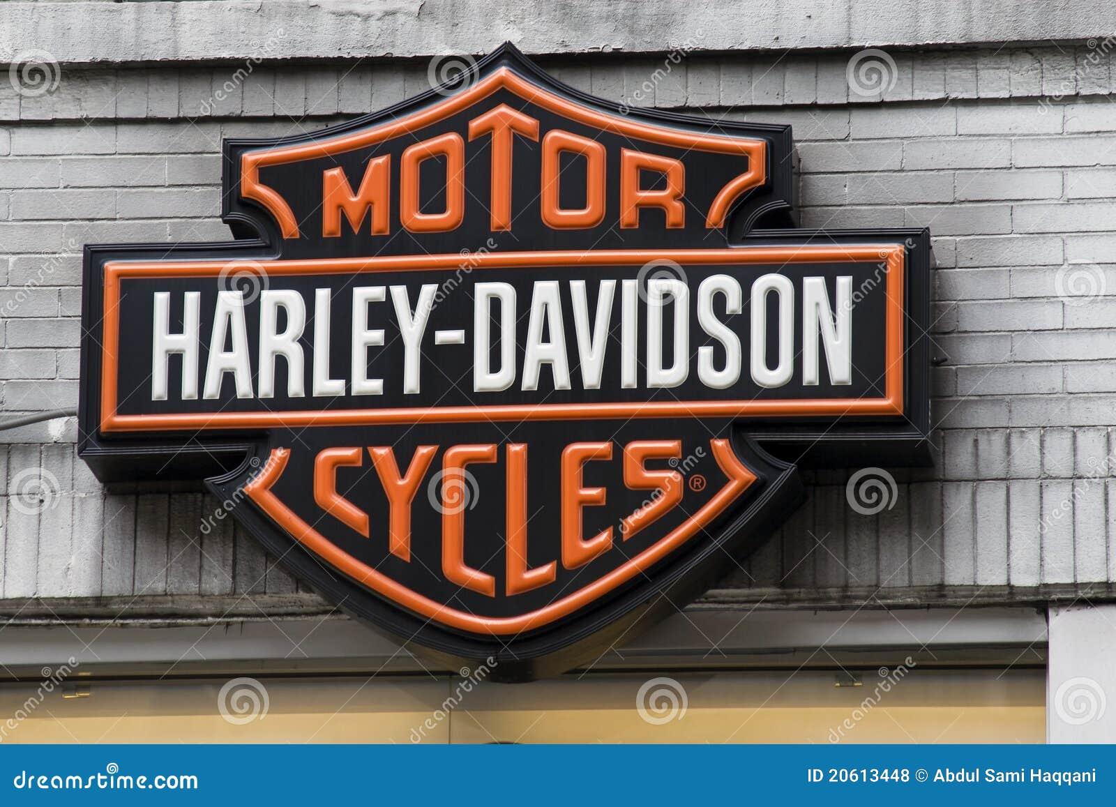 harley davidson zeichen redaktionelles stockfoto bild