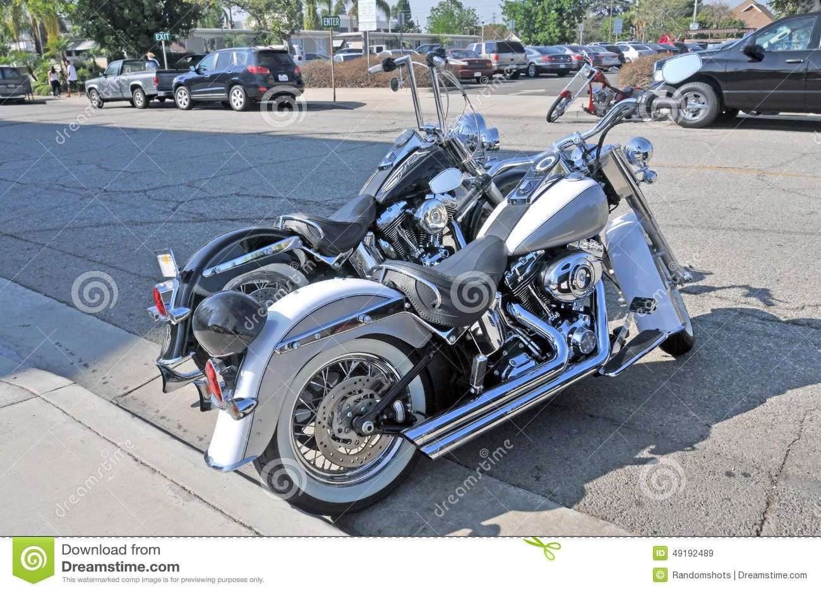 harleys and a chopper editorial stock image image 49192489. Black Bedroom Furniture Sets. Home Design Ideas
