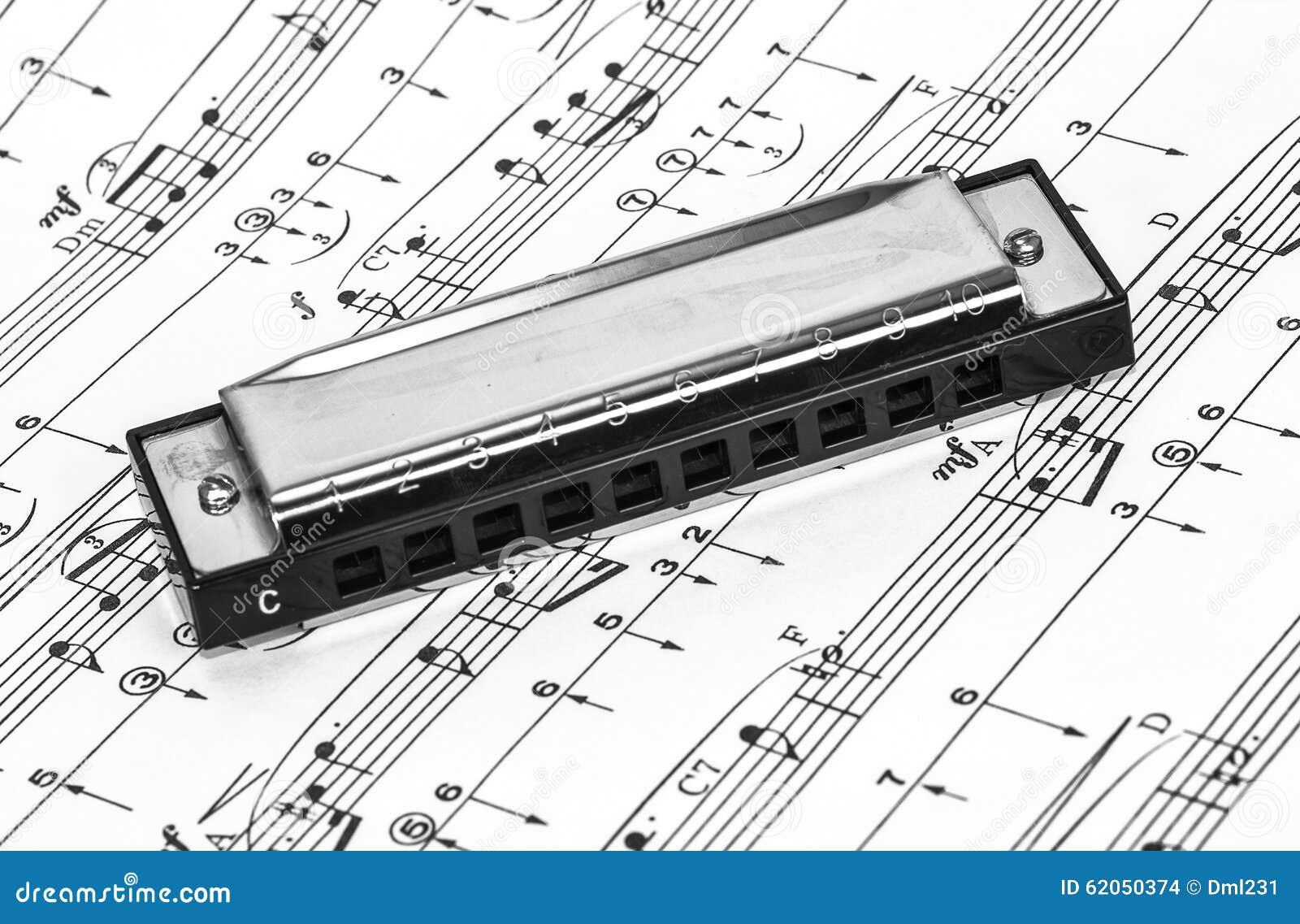 Harmonika op Bladmuziek