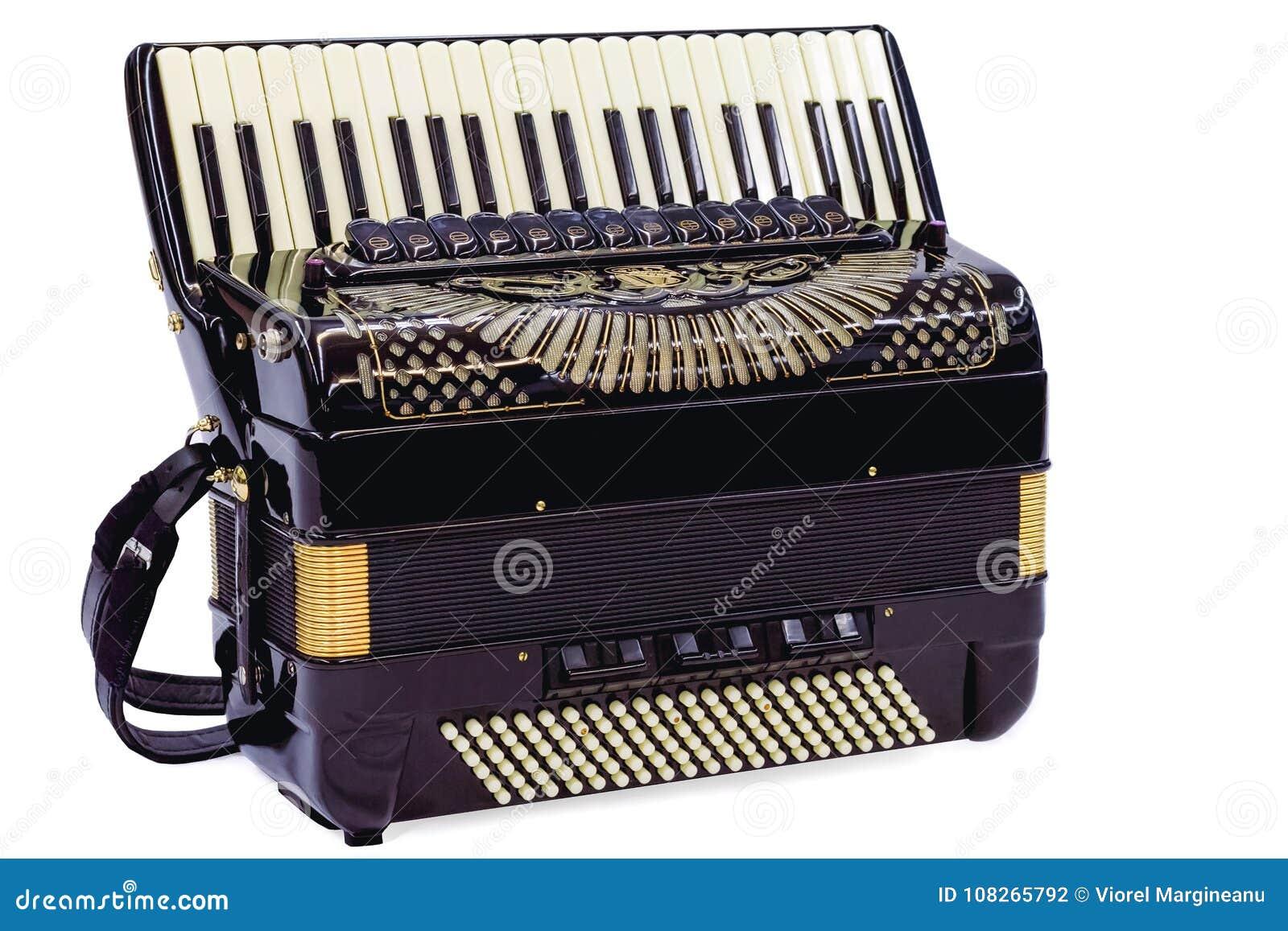 Harmonika in wit