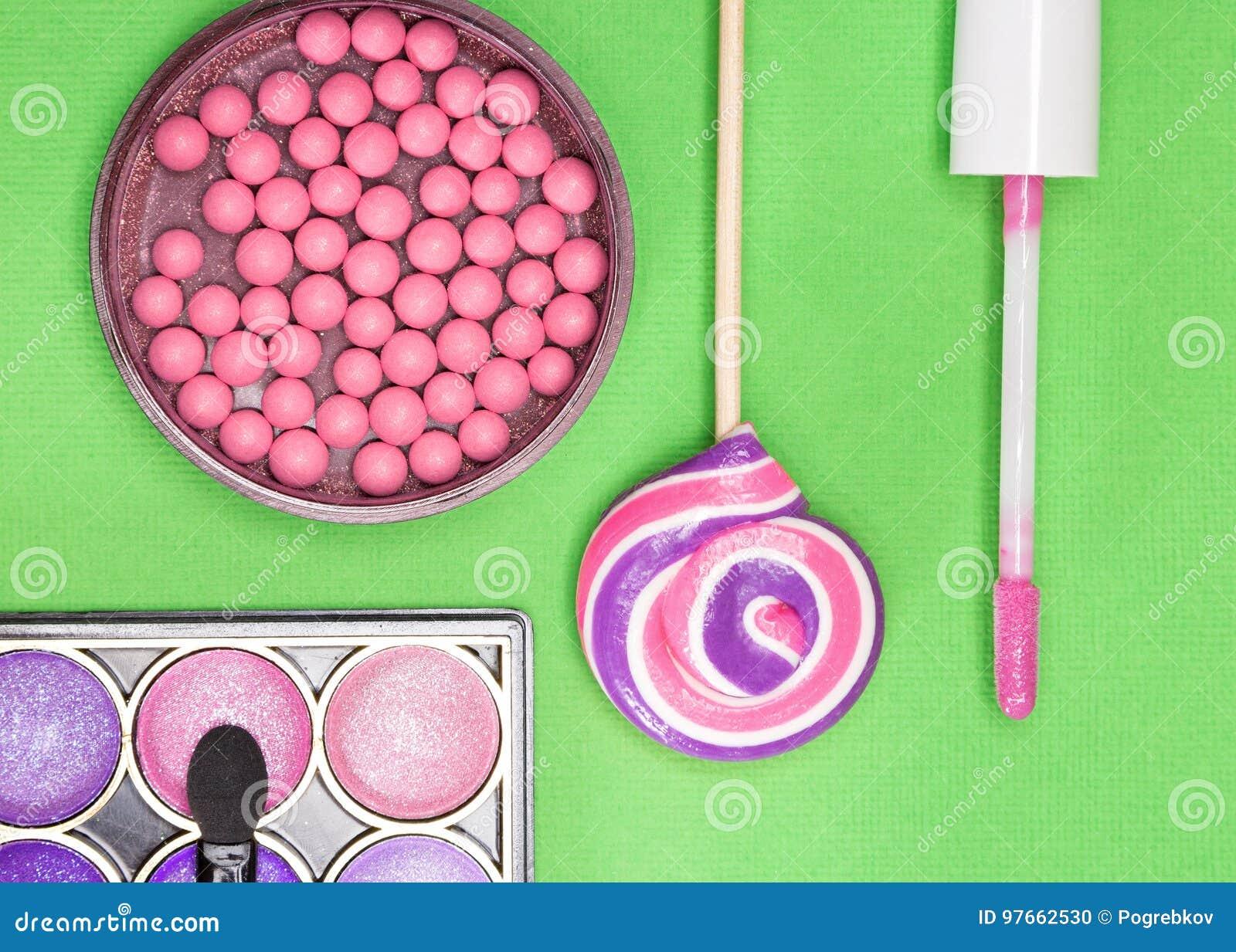 Harmonious Color Combination In Makeup Stock Photo - Image ...
