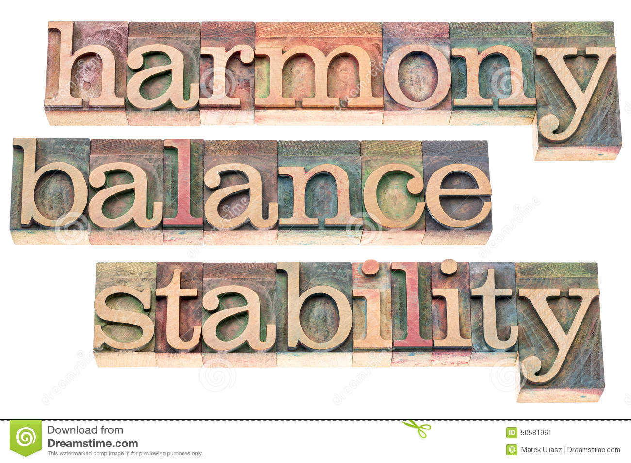 Harmony, Balance And S... Word Stability