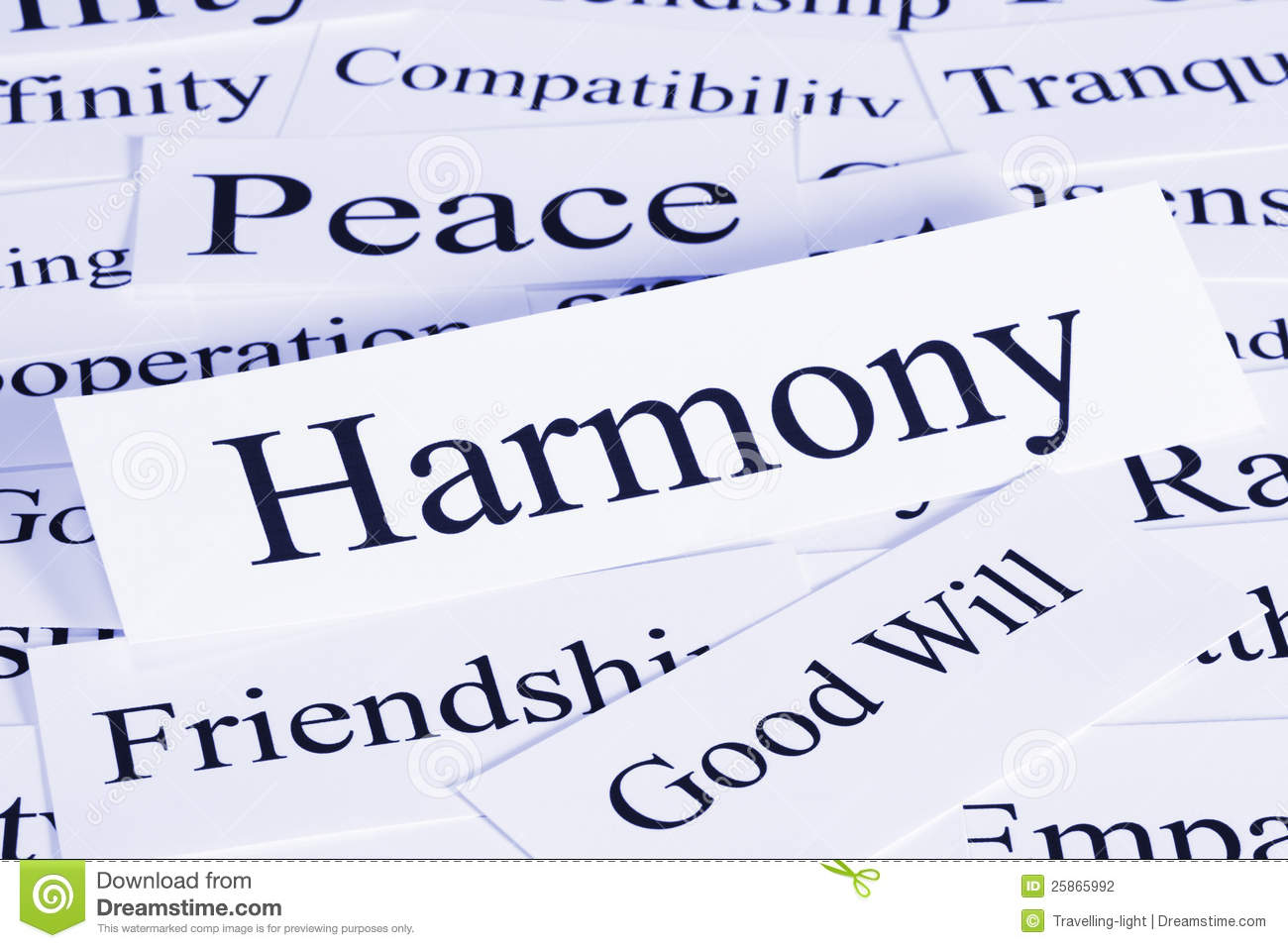 conceptual look at harmony, peace, friendship, good will ...